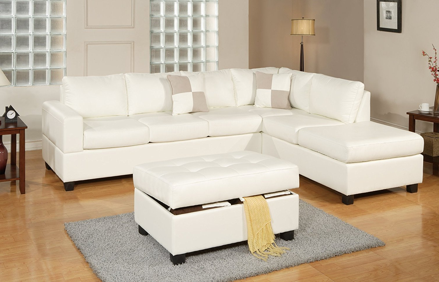 Current Burton Leather 3 Piece Sectionals With Ottoman Regarding Furniture: Sectional Couch Costco Great For Living Room (View 18 of 20)