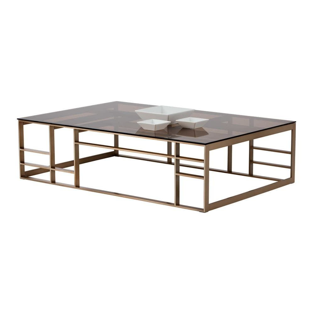 Current Club Joanna Brown Glass Rectangular Coffee Table (Gallery 3 of 20)