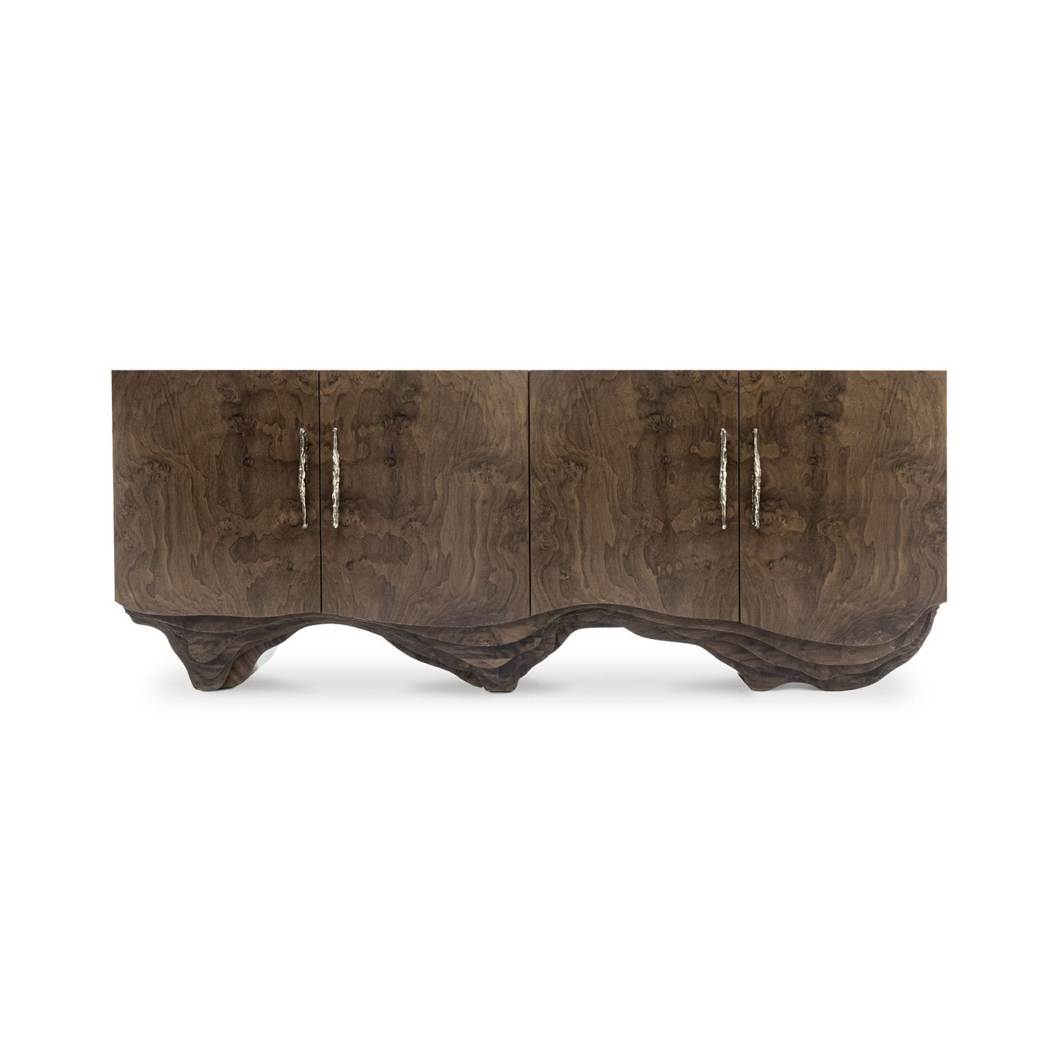 Current Contemporary Sideboard / Walnut / Wood Veneer / Polished Brass Inside Walnut Finish Contempo Sideboards (Gallery 14 of 20)