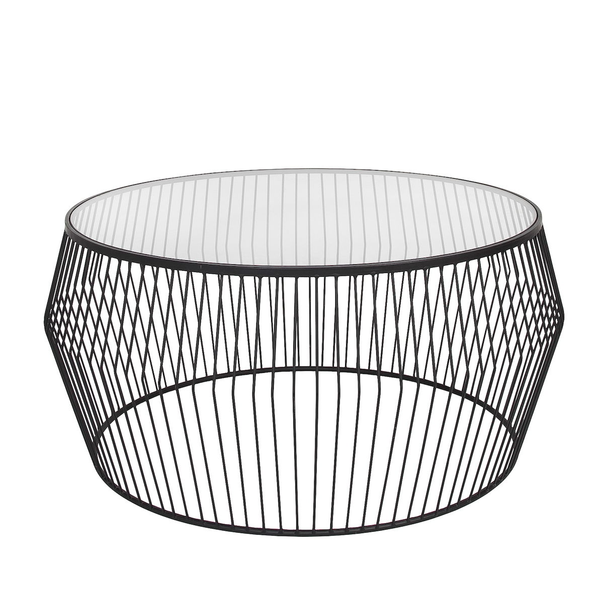 Current Cyclone Wire Coffee Table – Black (Gallery 11 of 20)