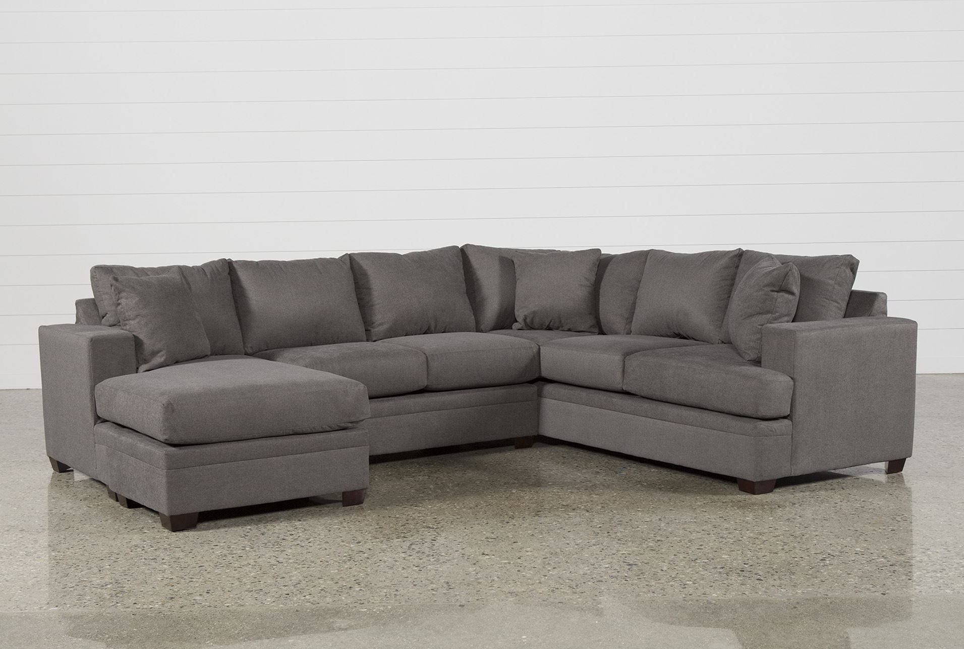 Current Delano Smoke 3 Piece Sectionals Throughout Kerri 2 Piece Sectional W/raf Chaise In  (View 4 of 20)