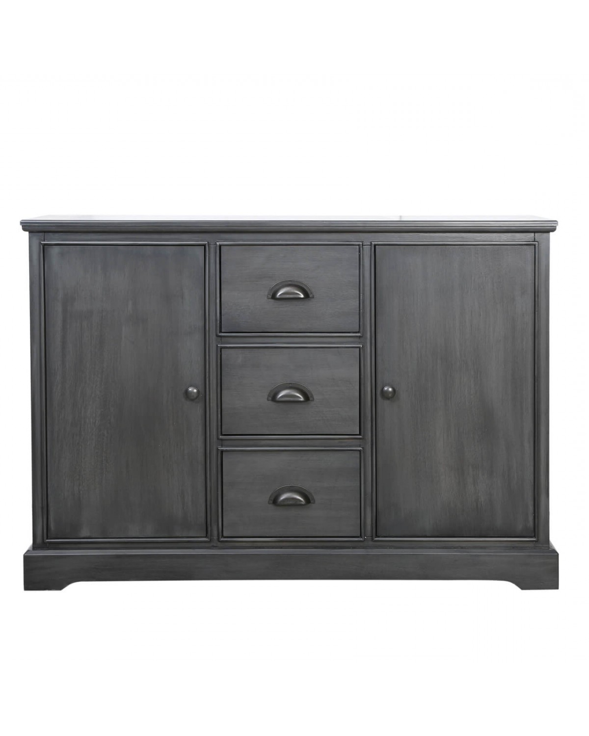 Current Grey Delta 3 Drawer 2 Door Sideboard (View 6 of 20)