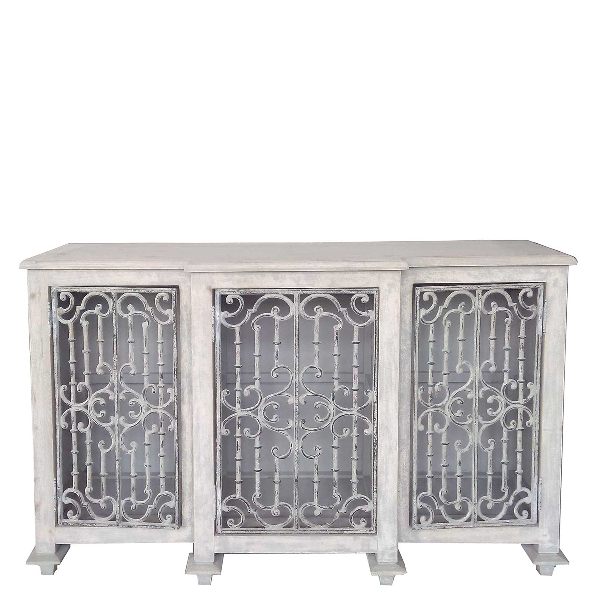 Current Iron Sideboards For Versaille Reclaimed Wood And Cast Iron Sideboard, Pine (Gallery 2 of 20)