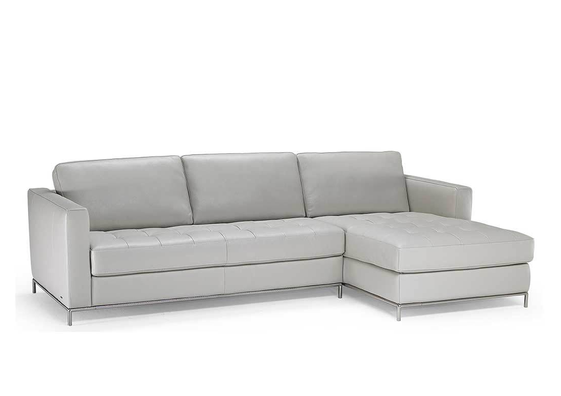 Current Jolly Natuzzi Grey Grain Lear Sectional Sofa Natuzzi Grey Grain Lear Inside Tenny Dark Grey 2 Piece Right Facing Chaise Sectionals With 2 Headrest (View 18 of 20)