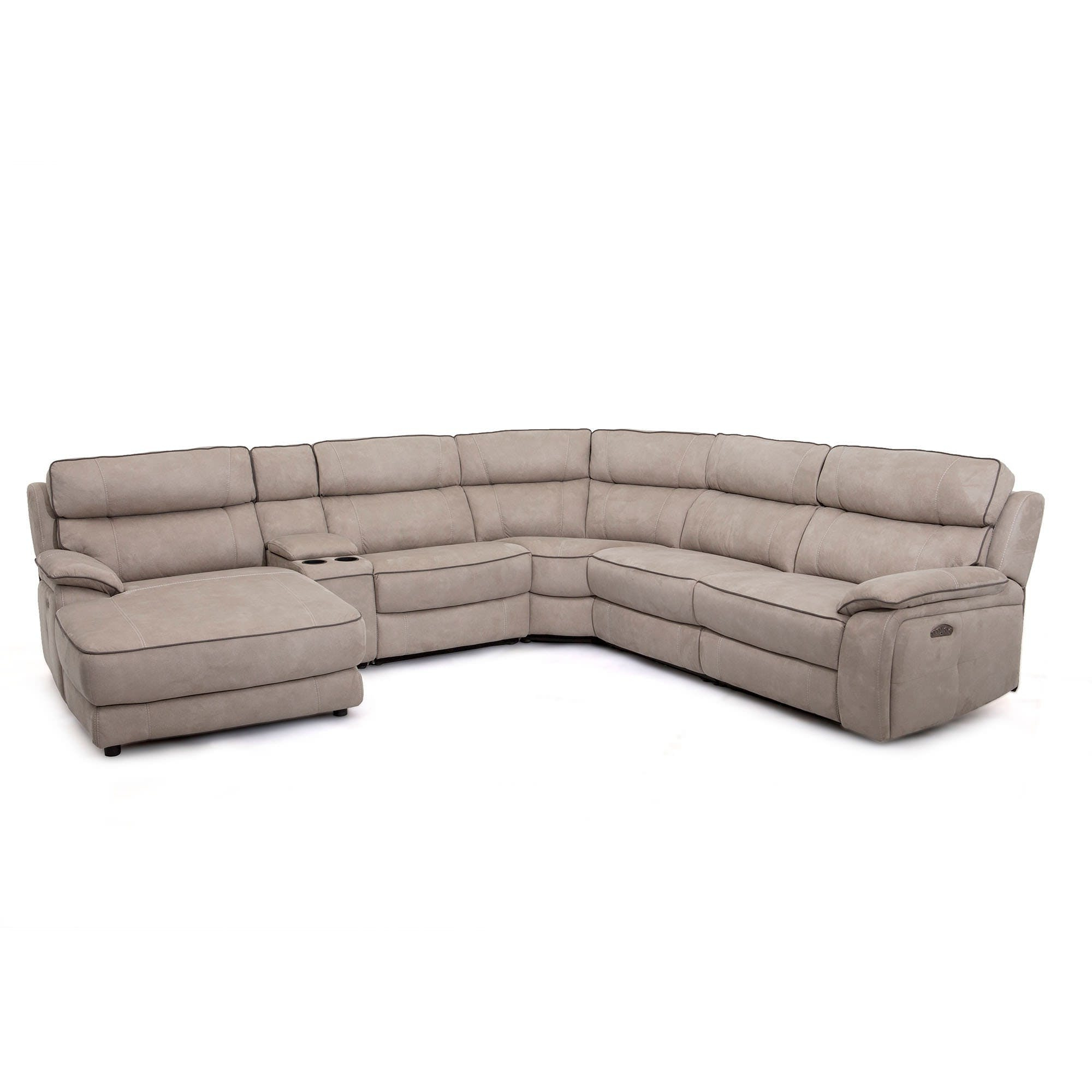 Current Kristen Silver Grey 6 Piece Power Reclining Sectionals Inside Silver Grey 6 Piece Power Reclining Sectional With Power Headrest (View 1 of 20)