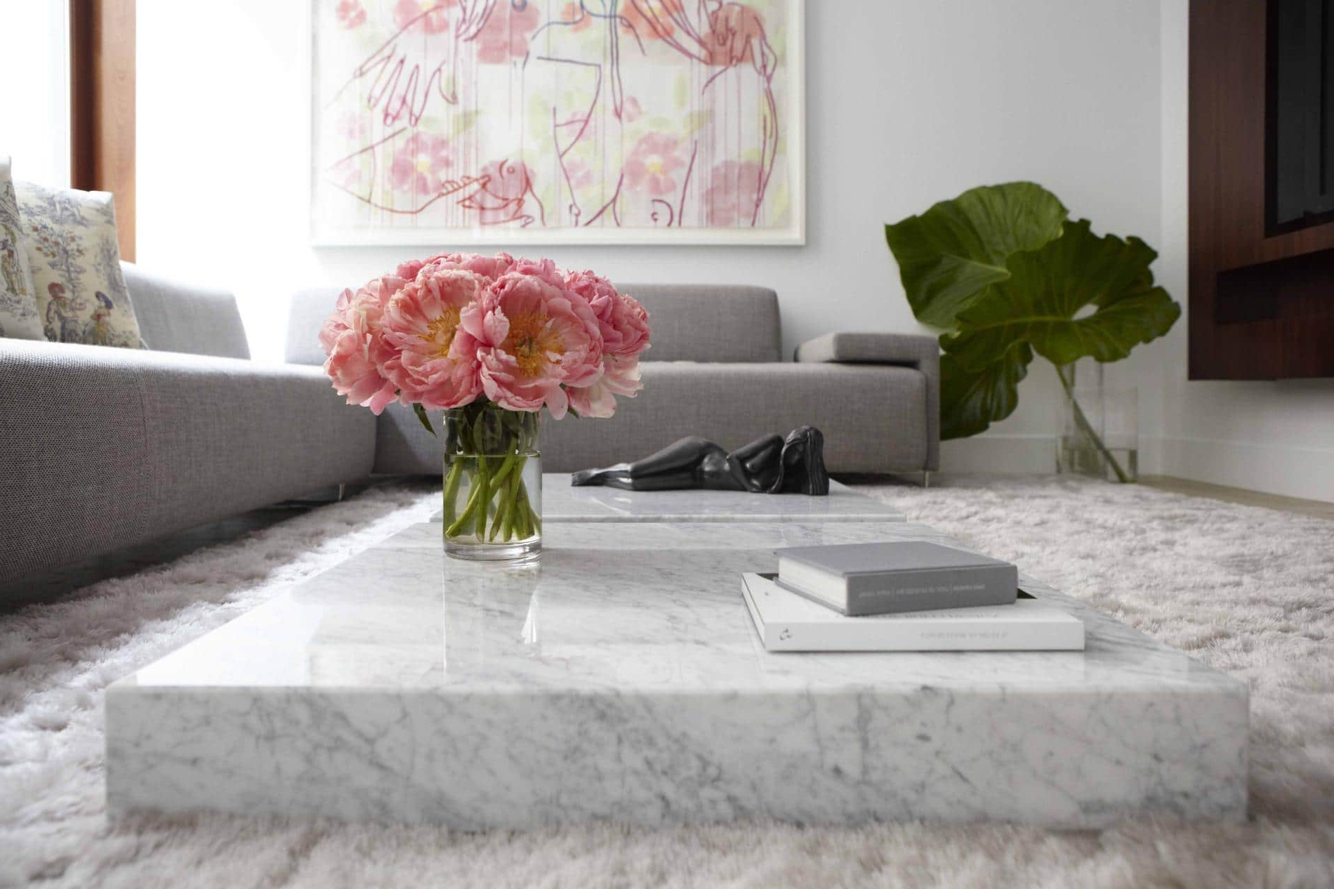 Current Large Slab Marble Coffee Tables With Antiqued Silver Base With Marble Coffee Table Design, Style Ideas And Tips – Sefa Stone (View 4 of 20)