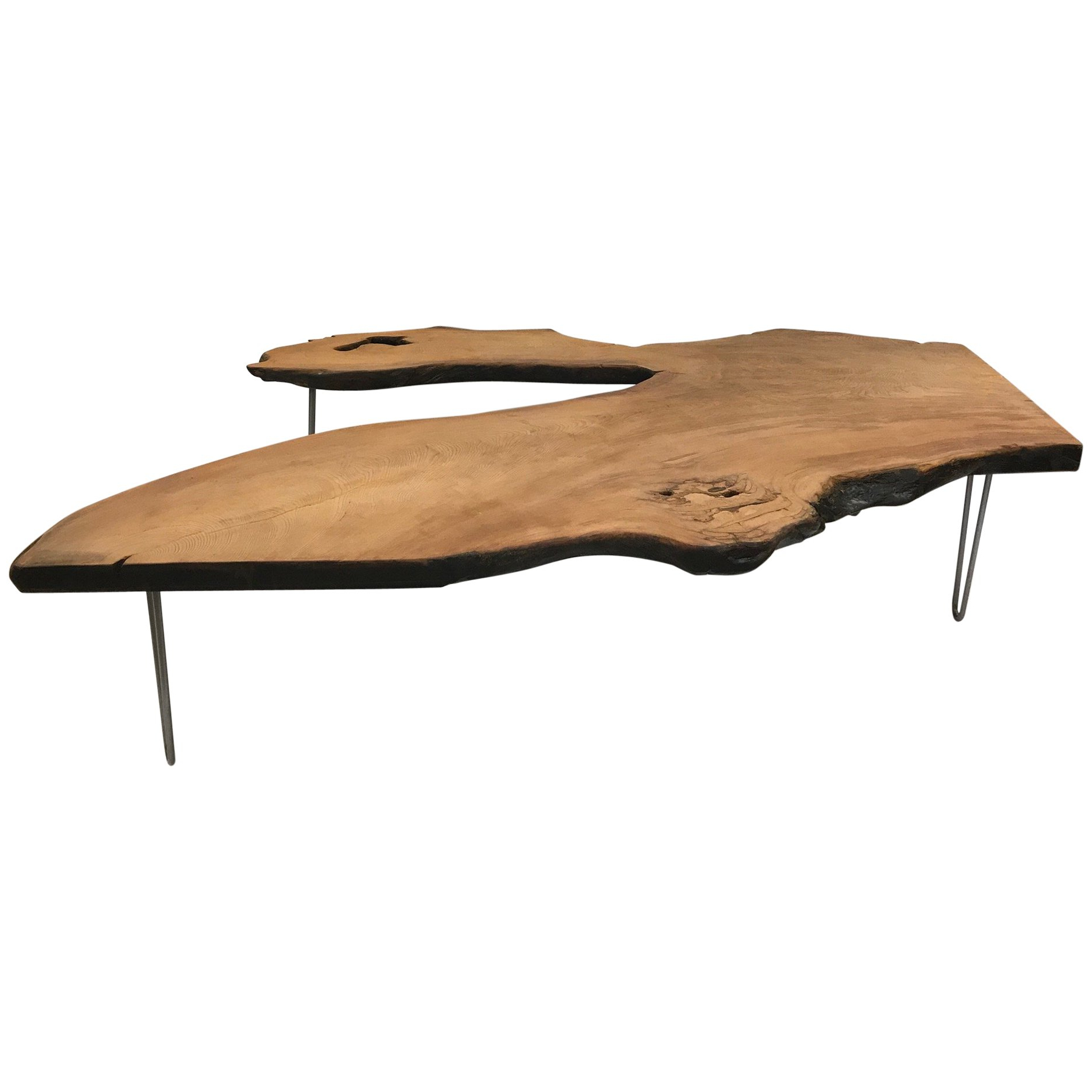 Current Live Edge Teak Coffee Tables Pertaining To Large Organic Teak Live Edge Coffee Table For Sale At 1stdibs (View 19 of 20)