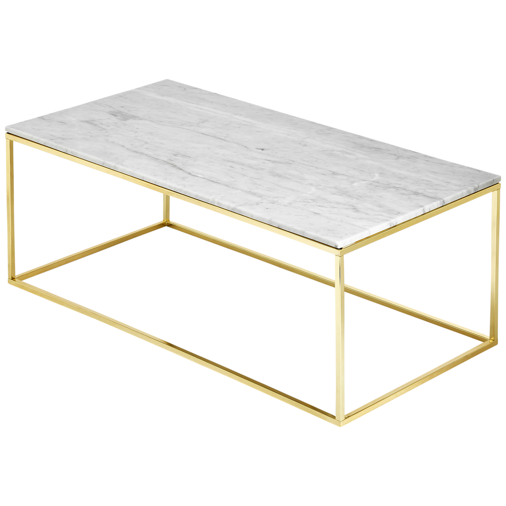 Current Modern Marble Iron Coffee Tables Regarding Estudio Furniture Como White Marble Coffee Table & Reviews (View 5 of 20)