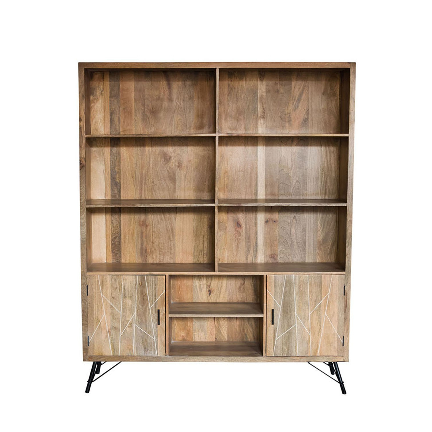 Current Natural Mango Wood Finish Sideboards For Mosaic Small Bookshelf/iron & Mango Wood/natural Finish/33*17* (View 5 of 20)