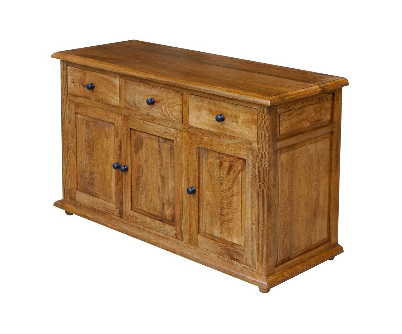 Current Natural Mango Wood Finish Sideboards In 3 Door Sideboard – Solid Mango Wood Sjs Provence Furniture Range (View 7 of 20)
