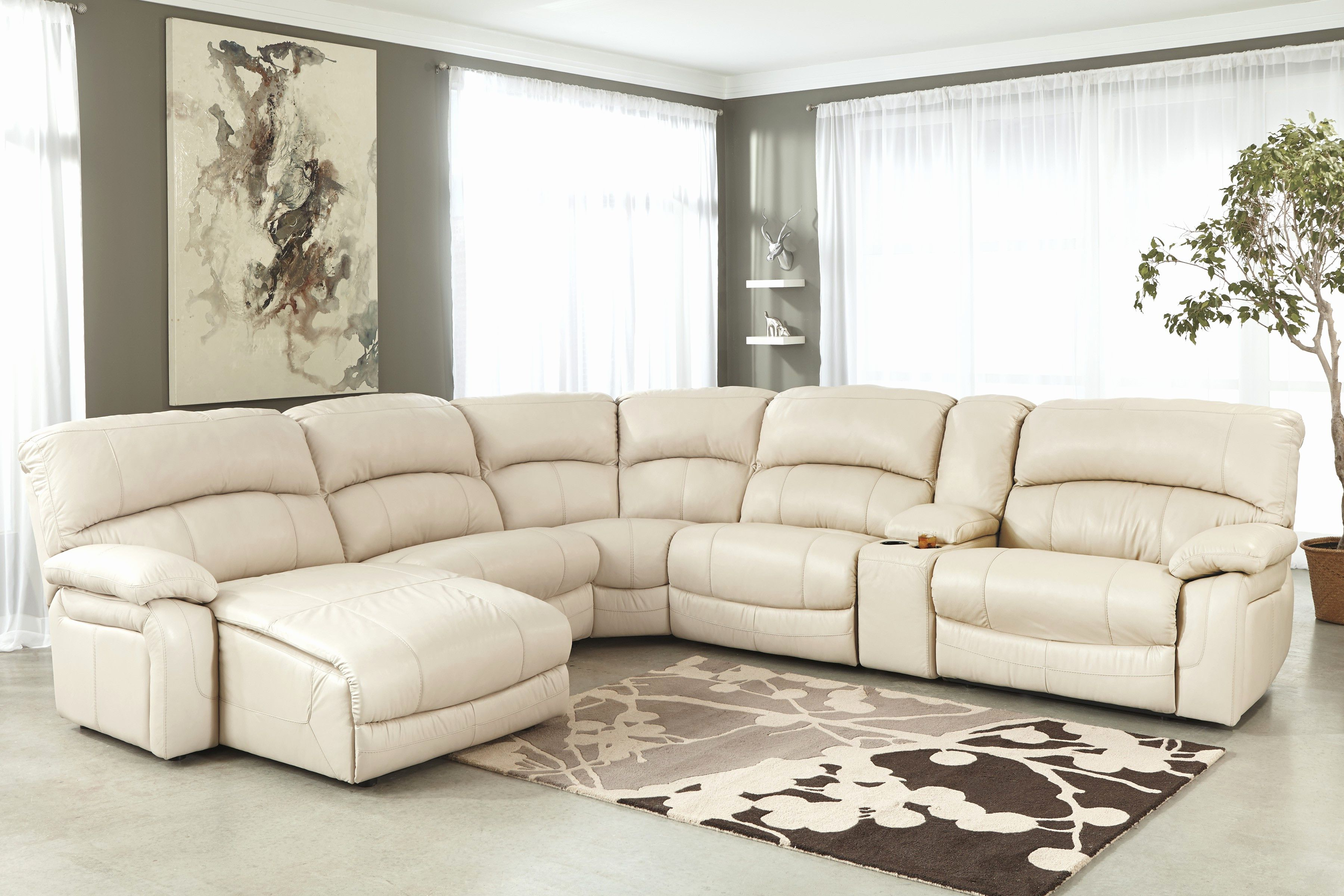 Current New Cream Sectional Sofa Pics Cream Leather Sectional Sofa With Within Marcus Chocolate 6 Piece Sectionals With Power Headrest And Usb (View 3 of 20)