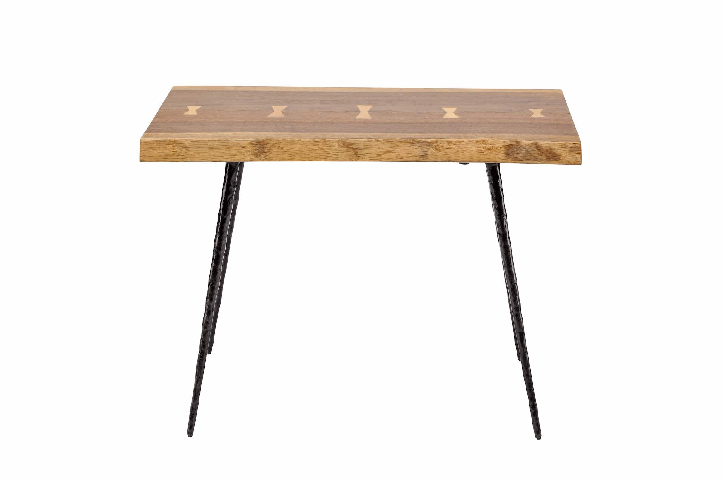 Current Nexa Side Table In Smoked Oak And Black Cast Iron Legs Within Smoked Oak Side Tables (View 11 of 20)