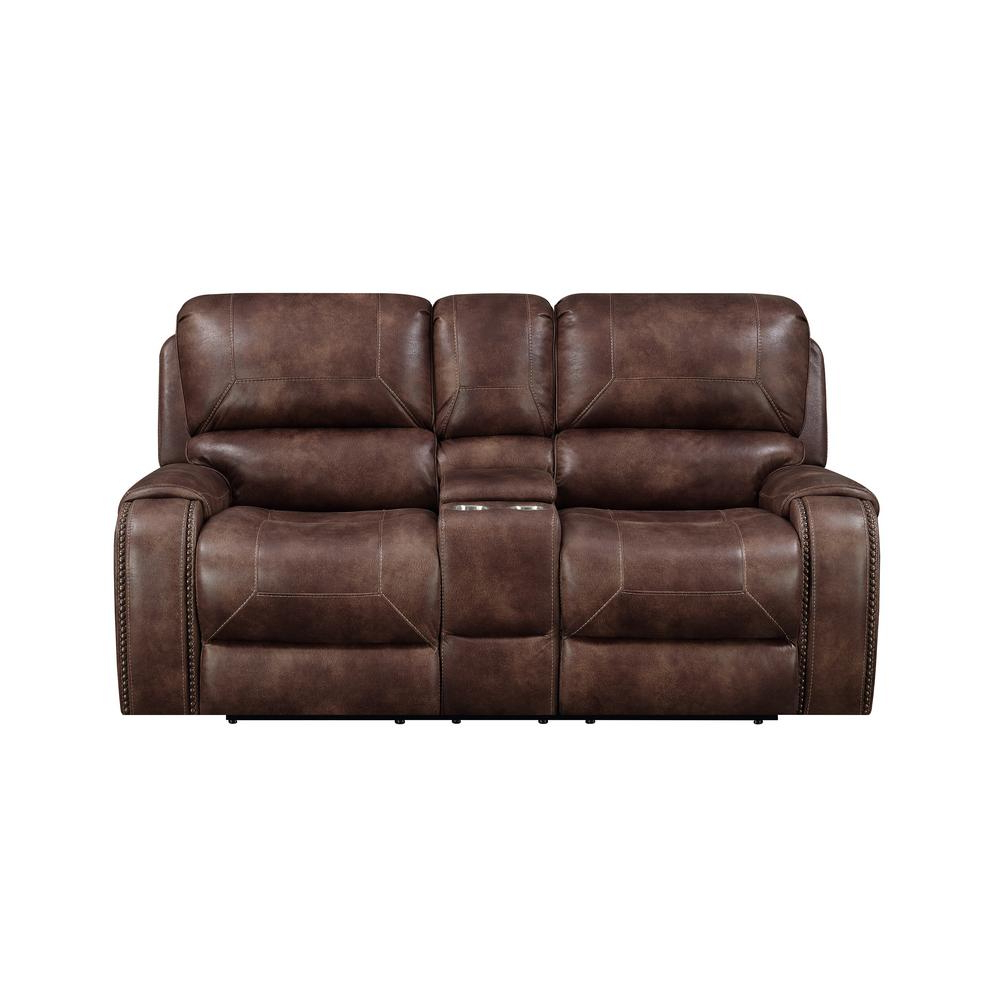 Current Ramsey Cognac Brown Transitional Top Grain Leather Reclining Sofa 03 With Regard To Waylon 3 Piece Power Reclining Sectionals (View 5 of 20)