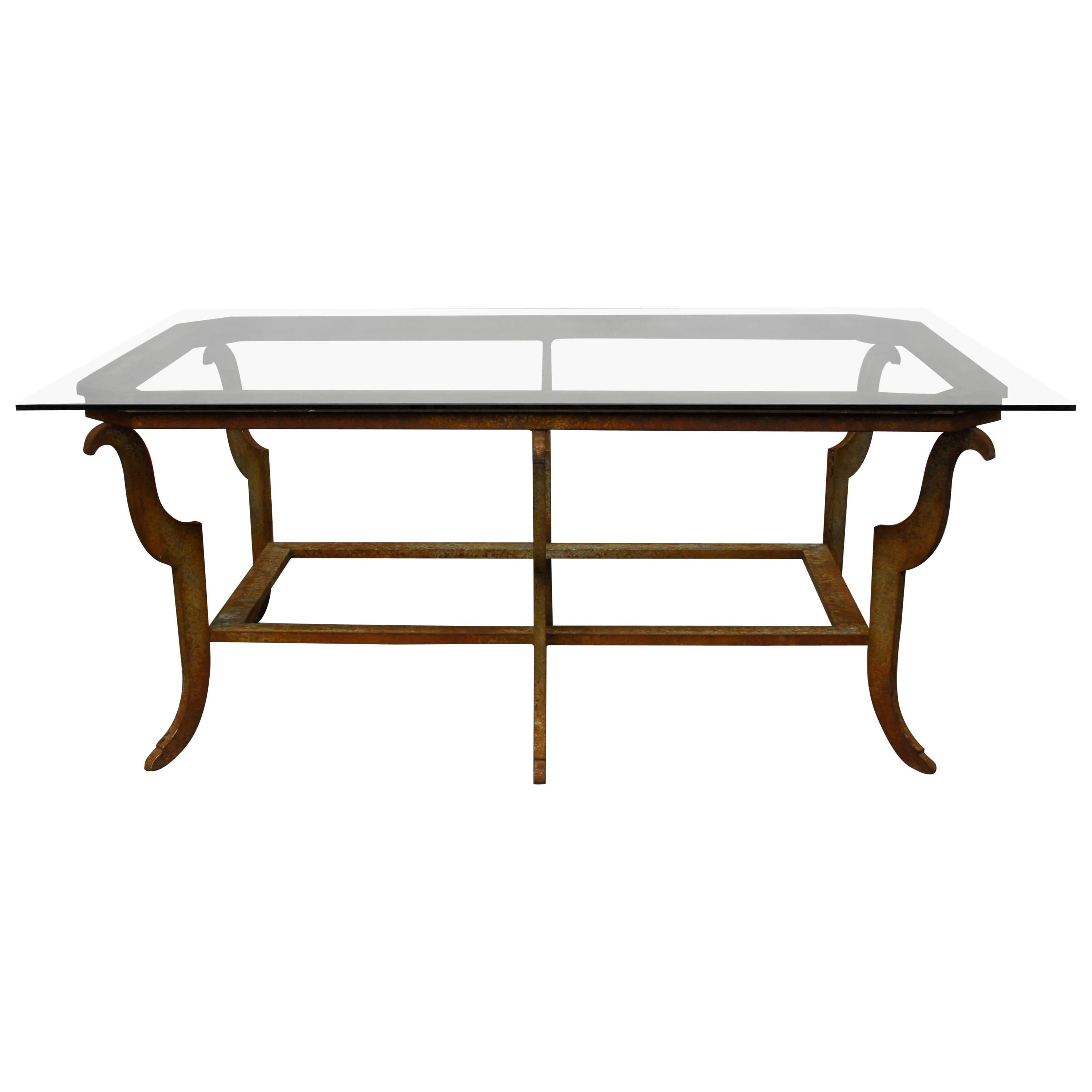 Current Rectangular Barbox Coffee Tables Within Sculpted Steel Patinated Coffee Table For Sale At 1stdibs (View 6 of 20)