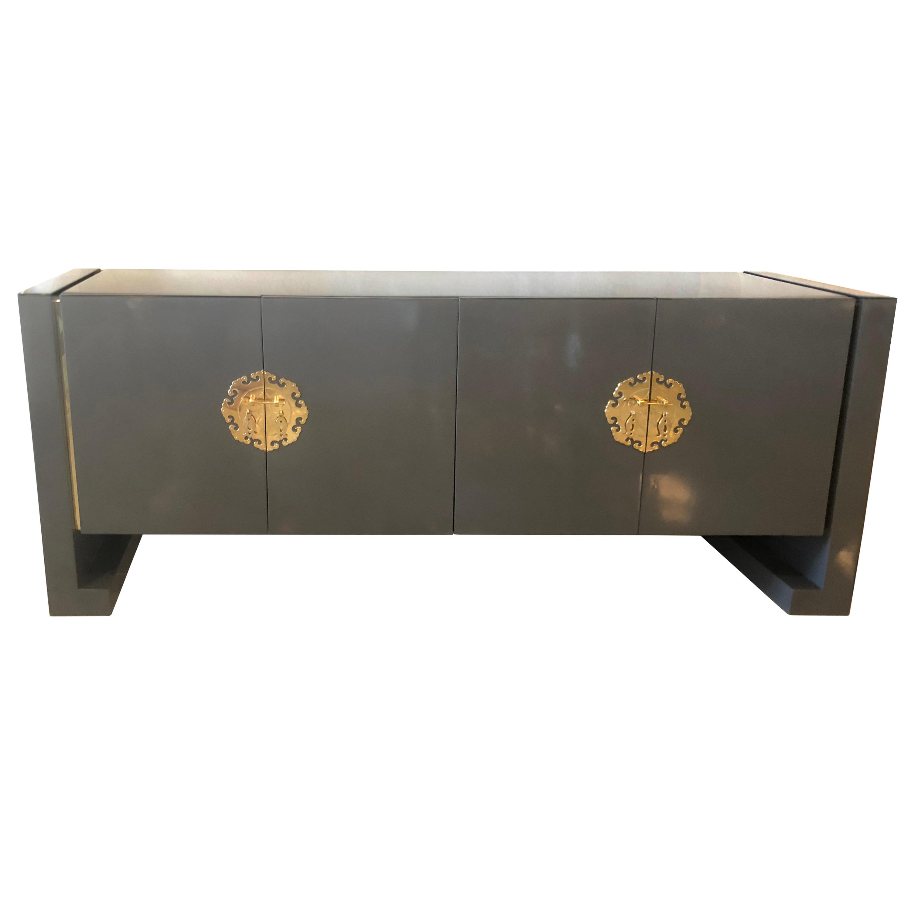 Current Rossi Large Sideboards In Ebonized Credenzastewartstown Furniture Company At 1stdibs (View 6 of 20)