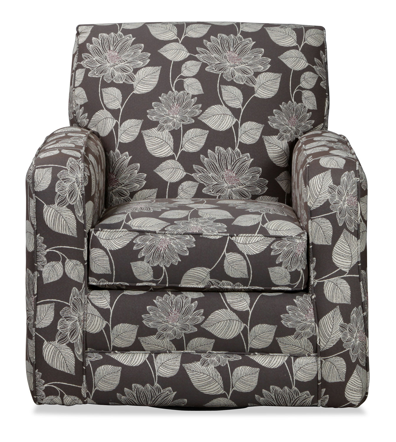 Current Torrey Accent Swivel Chair – Floral (View 4 of 20)