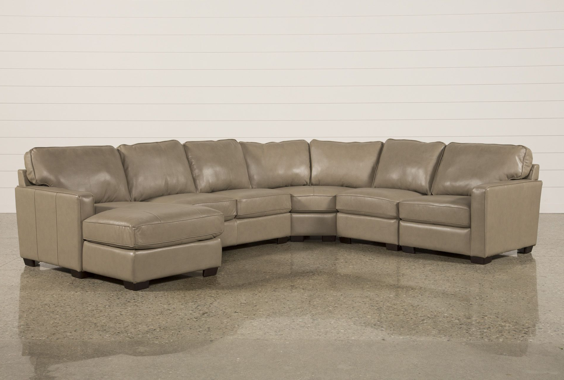 Current Waylon 3 Piece Power Reclining Sectionals For Redford Mushroom 5 Piece Sectional W/raf Chaise, Brown (View 15 of 20)