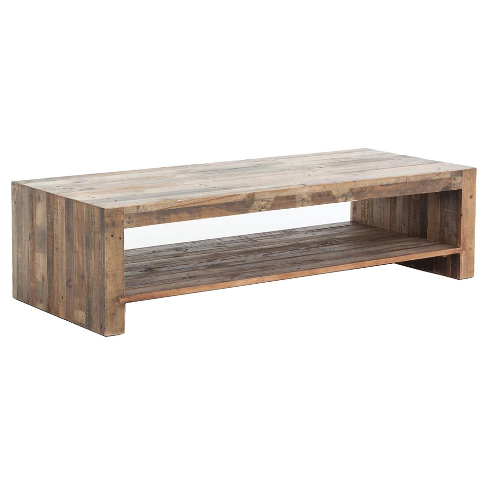Current Wynn Modern Rustic Lodge Chunky Reclaimed Wood Rectangle Coffee Table Throughout Modern Rustic Coffee Tables (View 6 of 20)