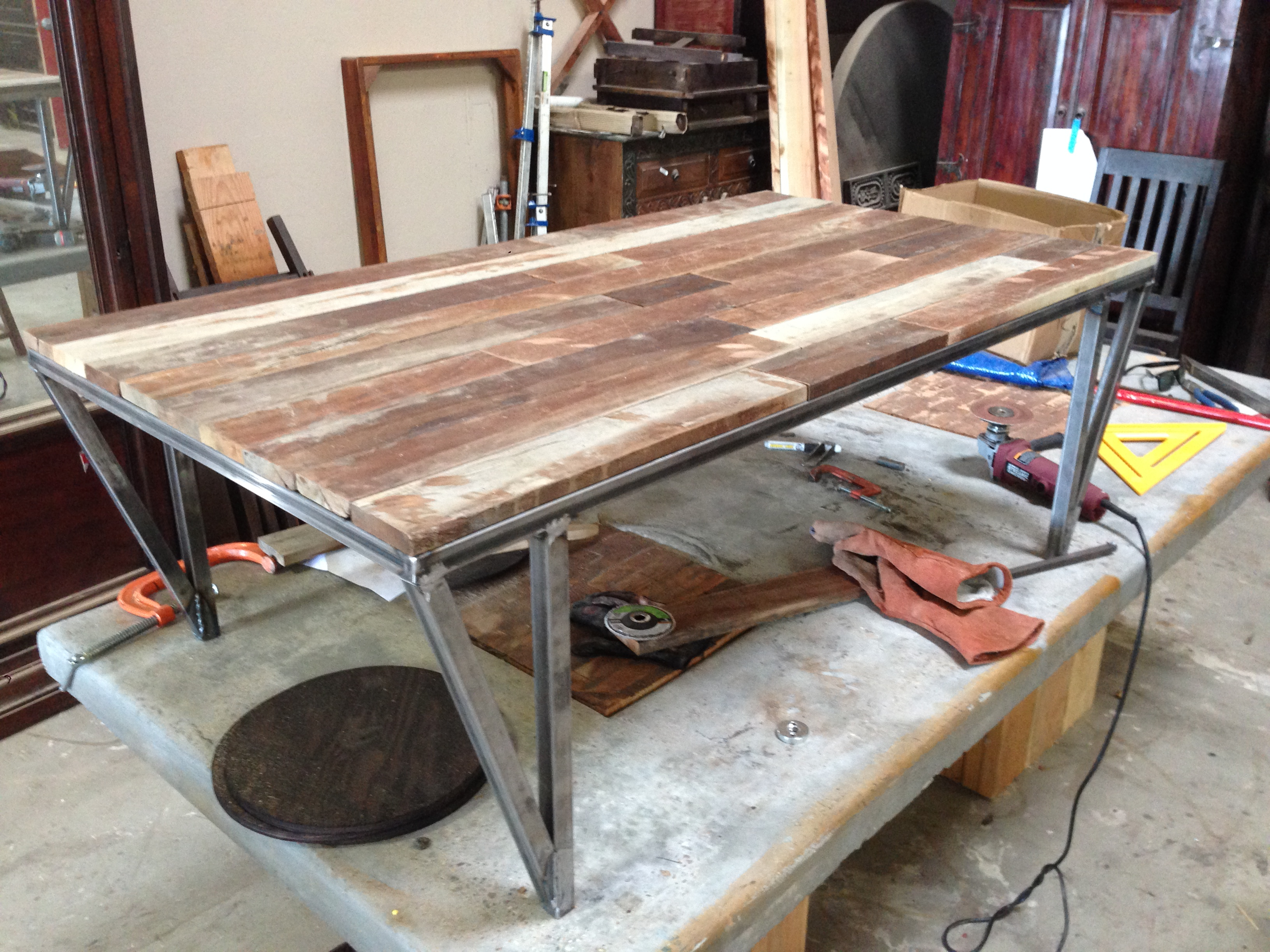 Custom Metal And Wood Furniture At San Diego Rustic Furniture – Made Inside Most Up To Date Iron Wood Coffee Tables With Wheels (View 11 of 20)
