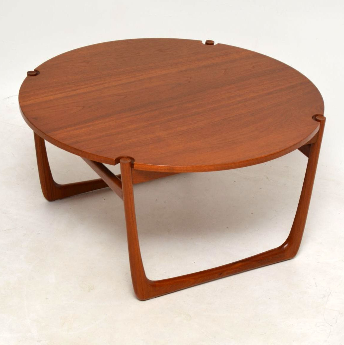 Danish Teak Coffee Tablepeter Hvit & Orla Mølgaard Nielsen Inside Most Current Round Teak Coffee Tables (View 6 of 20)