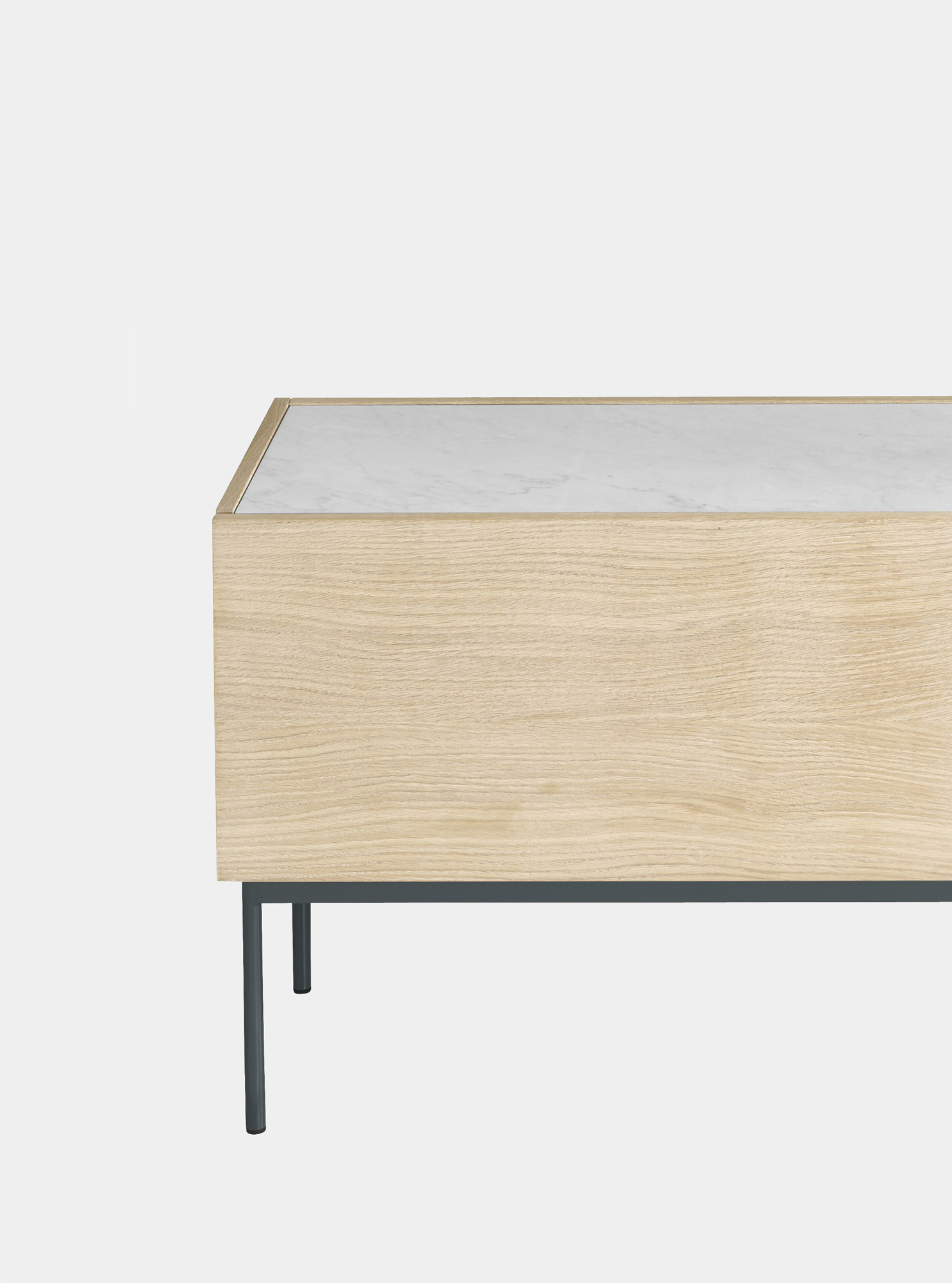 Dark Smoked Oak With White Marble Top Sideboards Throughout Most Popular Studiotwentyseven (View 6 of 20)
