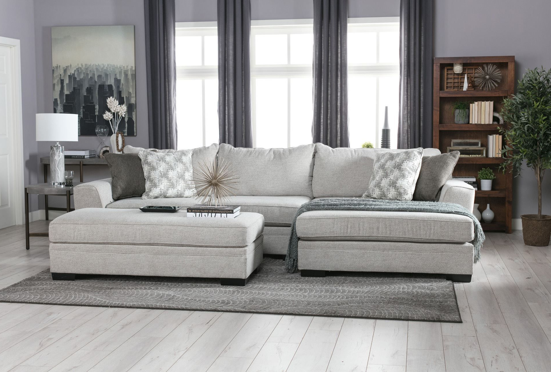 Delano 2 Piece Sectional W/laf Oversized Chaise In (View 2 of 20)