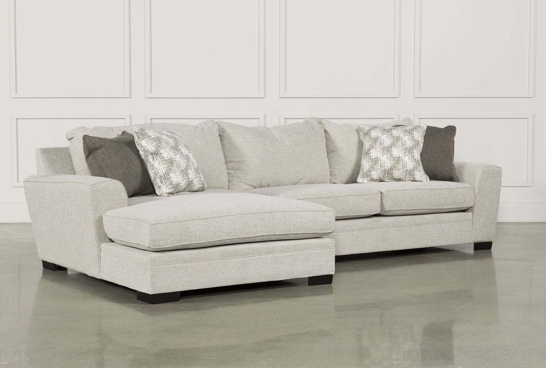 Delano 2 Piece Sectional W/raf Oversized Chaise, Beige, Sofas Intended For Recent Delano Smoke 3 Piece Sectionals (View 4 of 20)