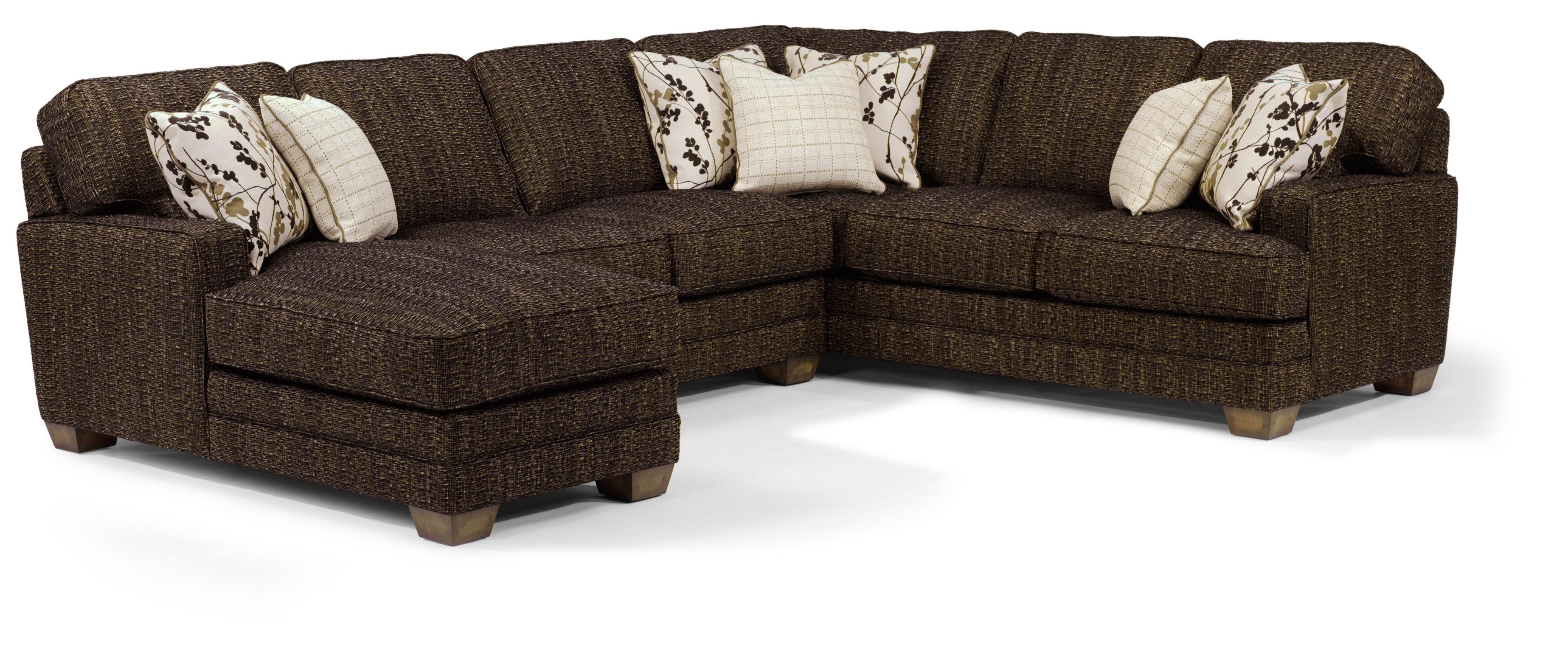 Delano 2 Piece Sectionals With Raf Oversized Chaise For Newest Flexsteel That's My Style <b>customizable</b> 3 Piece Sectional Sofa (View 12 of 20)