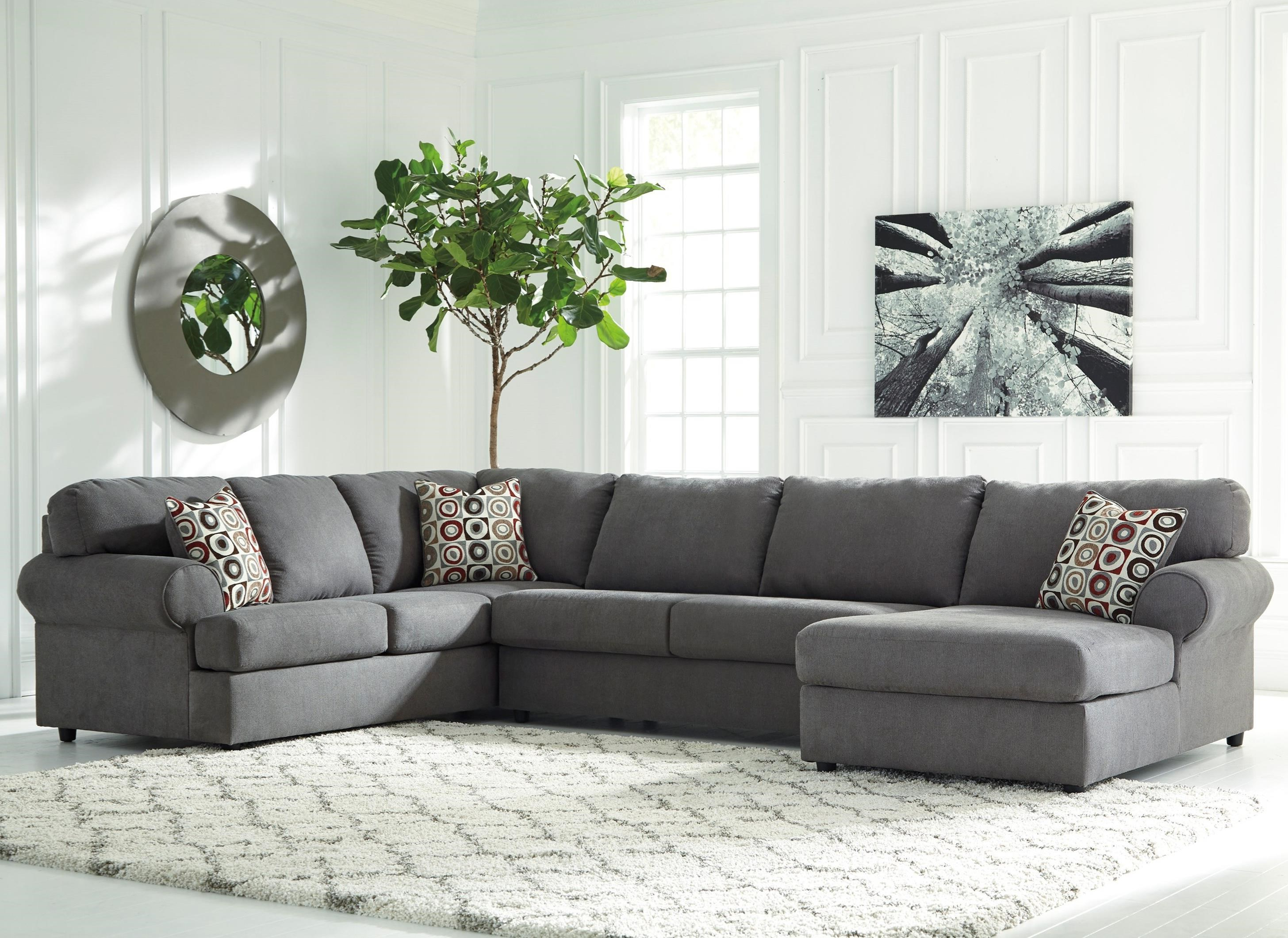 Delano Smoke 3 Piece Sectionals In Well Liked Abbott 3 Piece Fabric Sectional – Locsbyhelenelorasa (View 9 of 20)