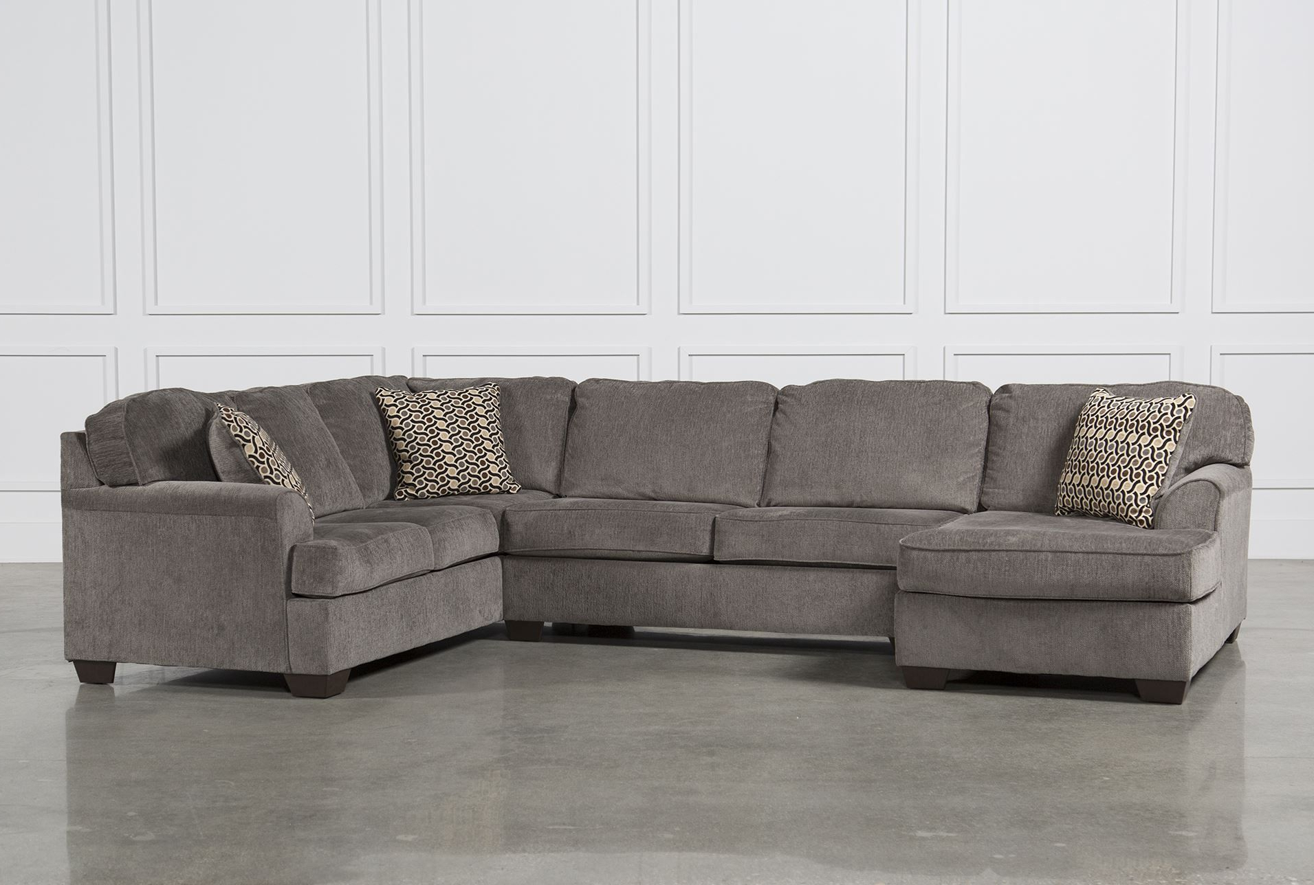 Delano Smoke 3 Piece Sectionals Inside Widely Used Loric Smoke 3 Piece Sectional W/laf Chaise – Signature $ (View 10 of 20)