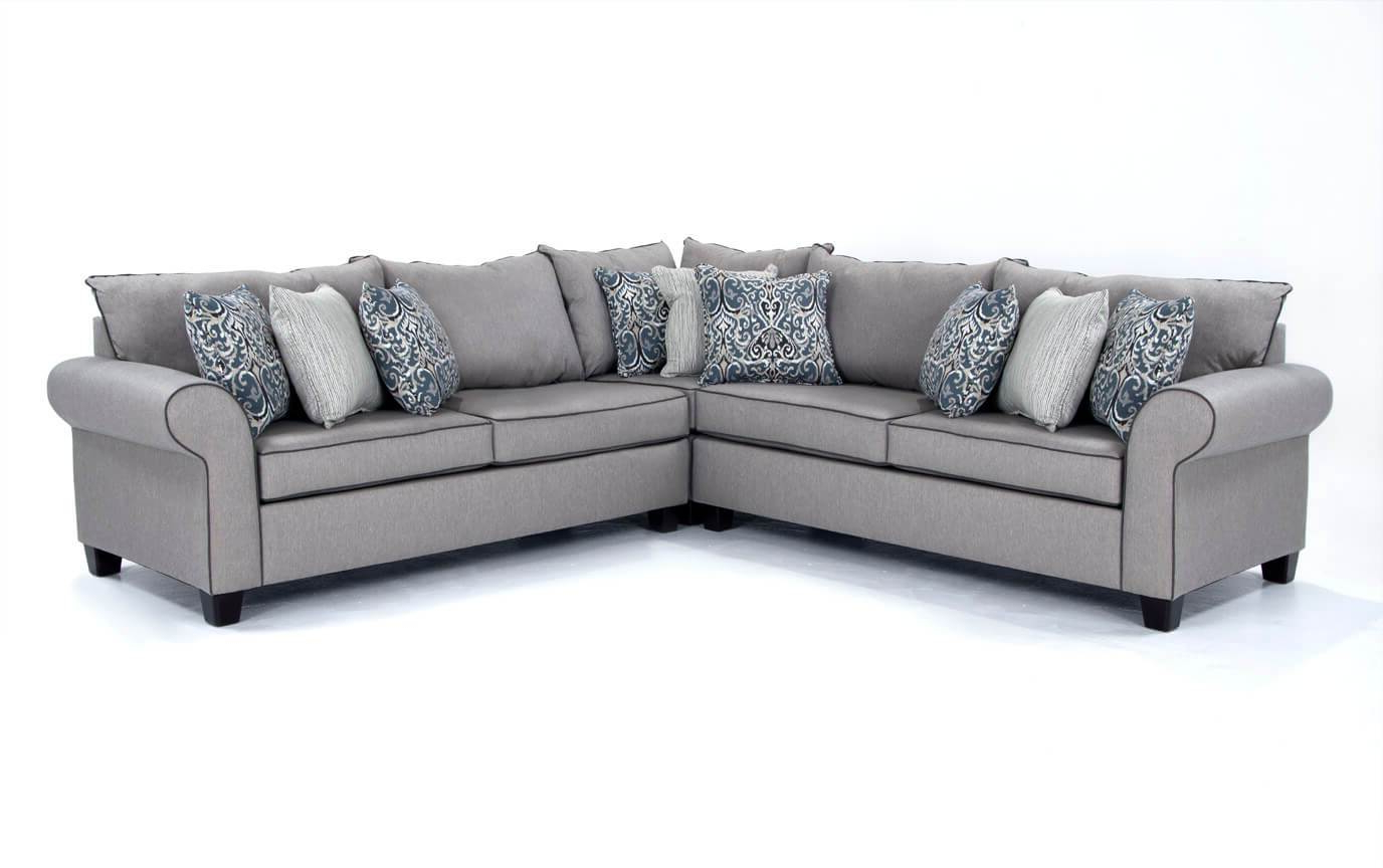 Delano Smoke 3 Piece Sectionals Pertaining To Well Liked Robust Brando Sectional Modular Chaise Smoke Brando Sectional (View 15 of 20)