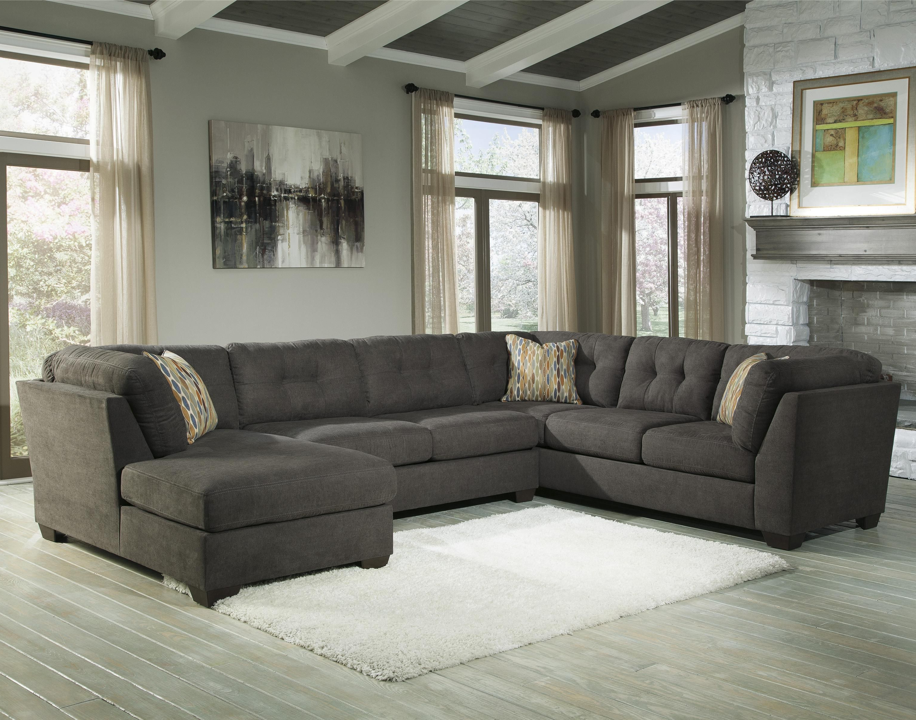 Delta City – Steel 3 Piece Modular Sectional With Right Chaise Within Newest Haven Blue Steel 3 Piece Sectionals (View 2 of 20)