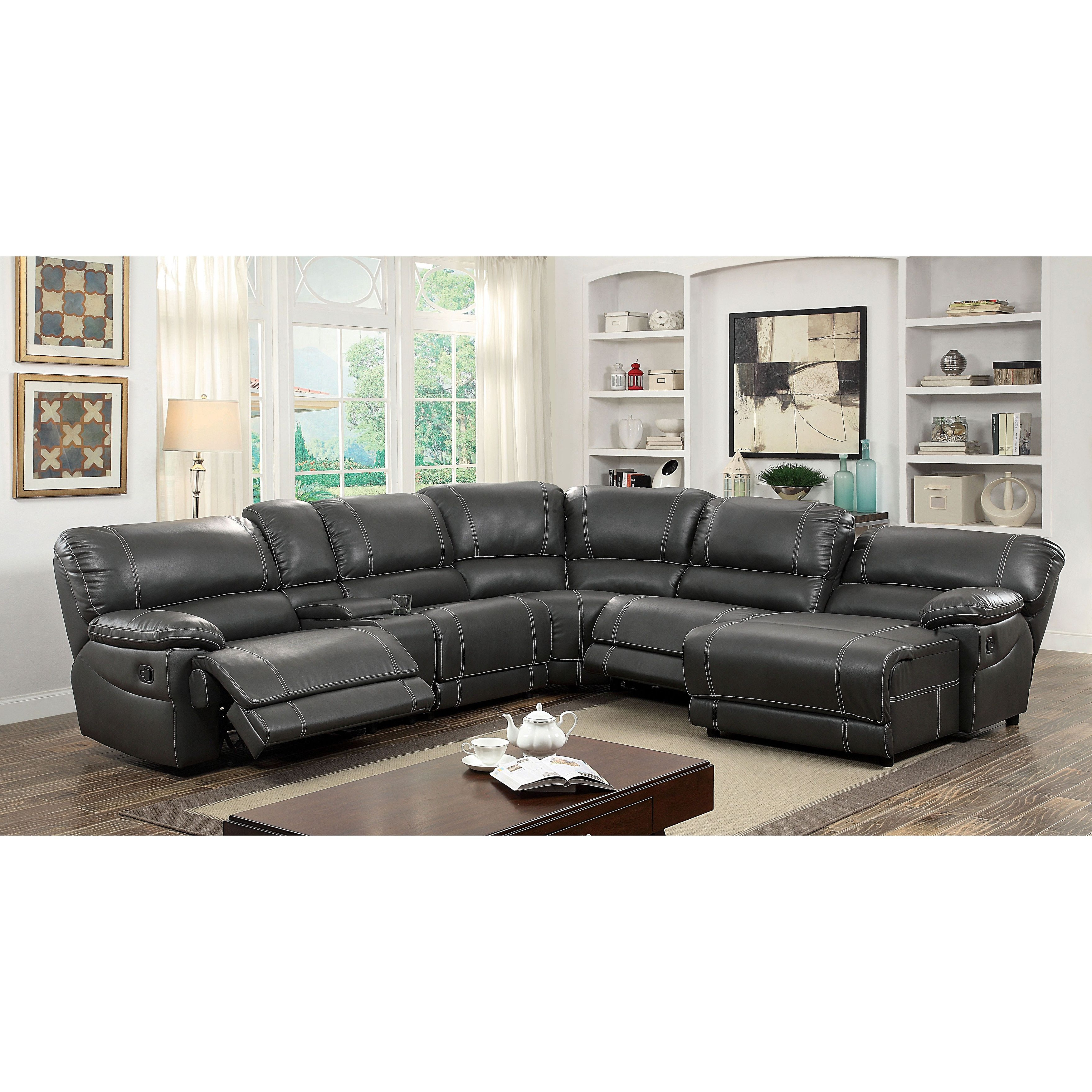 Denali Charcoal Grey 6 Piece Reclining Sectionals With 2 Power Headrests Regarding Newest Christopher Reclining Sectional Collection (Gallery 13 of 20)