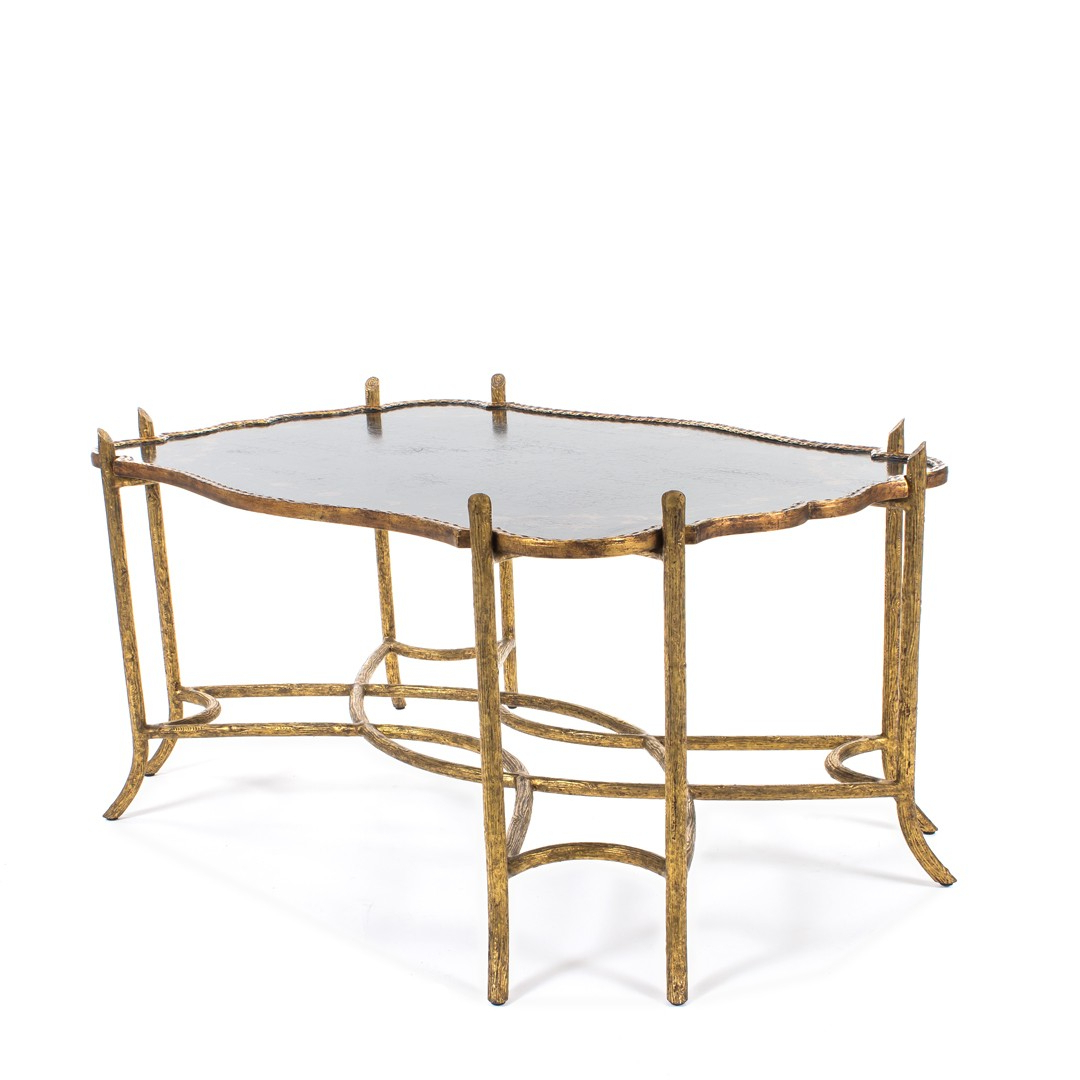 Dennis & Leen Chinoiserie Coffee Table W/antiqued Gold Faux Bois Pertaining To Most Recently Released Faux Bois Coffee Tables (View 12 of 20)
