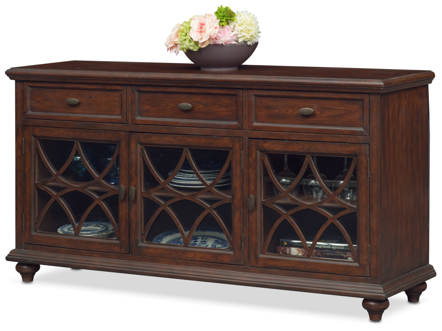 Diamond Circle Sideboards Intended For Newest Rivoli Sideboard – Brown (Gallery 7 of 20)