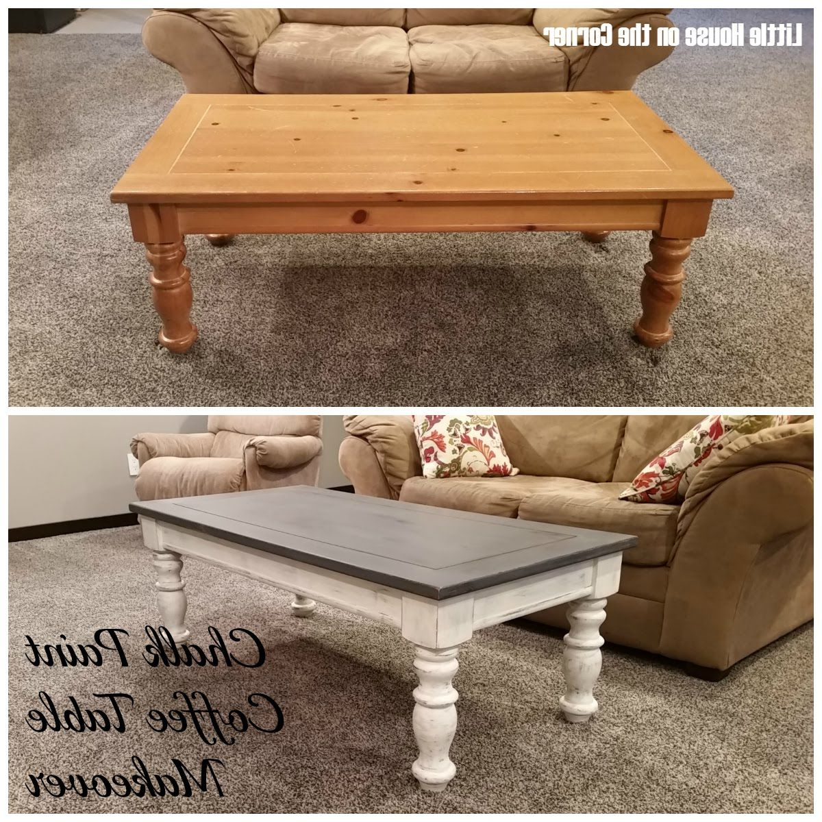 Diy Furniture, Home Within Round White Wash Brass Painted Coffee Tables (Gallery 1 of 20)