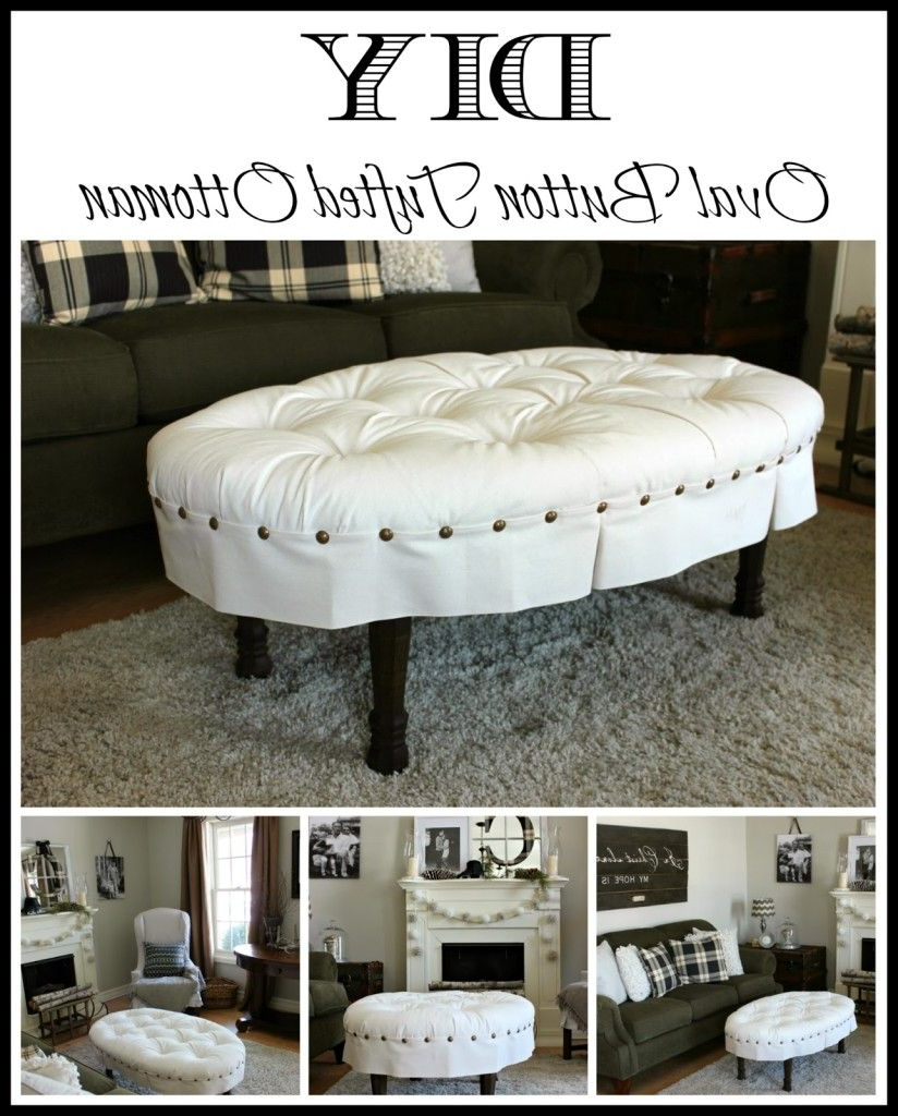 Diy Oval Button Tufted Ottoman (Gallery 7 of 20)