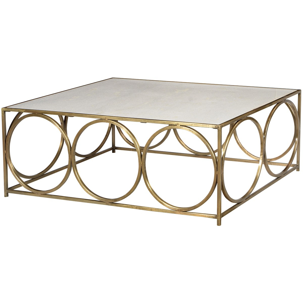 Dovetail Coffee Table Iron/marble (Gallery 1 of 20)