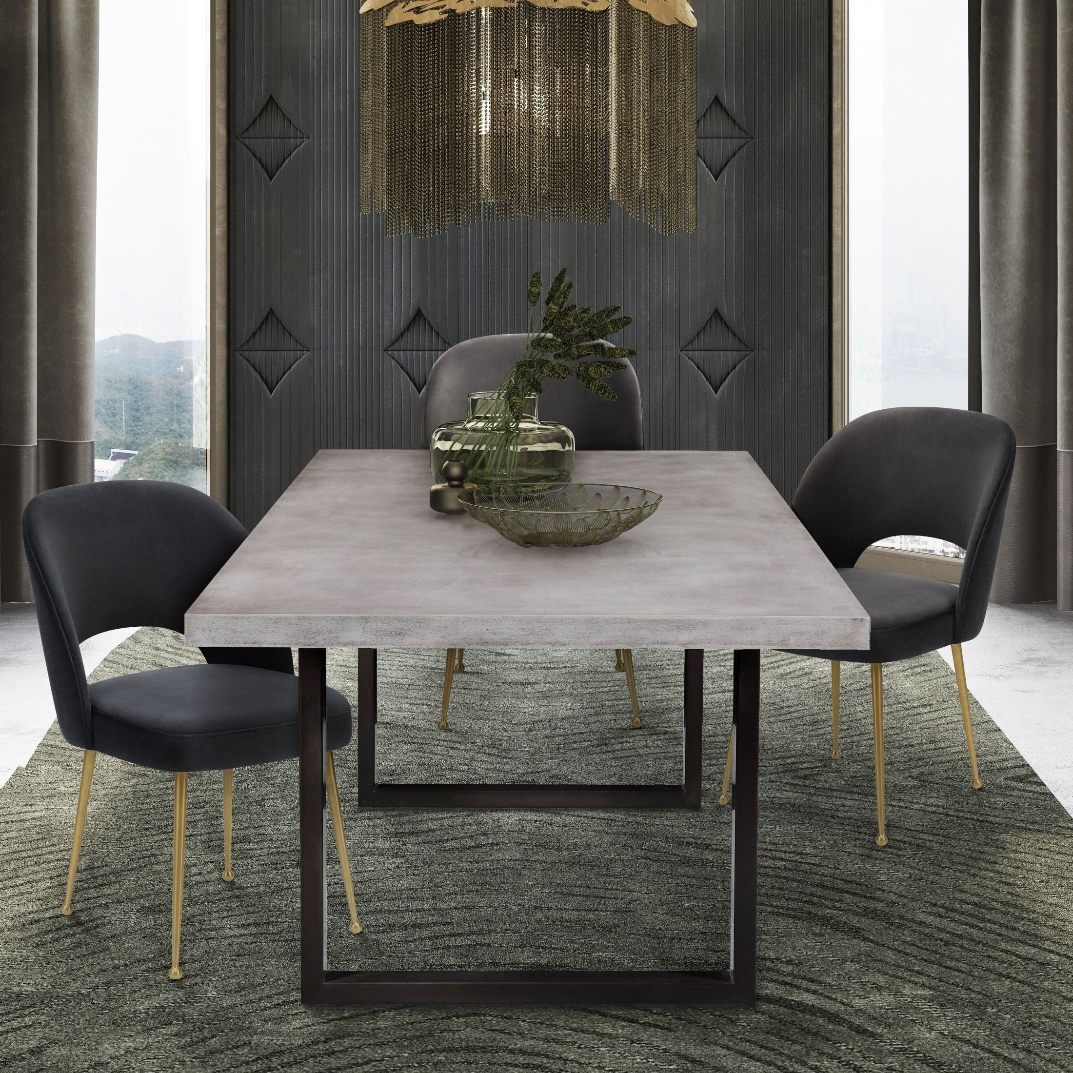 Edna Concrete Rectangular Dining Room Set With Swell Chair From Tov With Regard To Famous Swell Round Coffee Tables (Gallery 17 of 20)