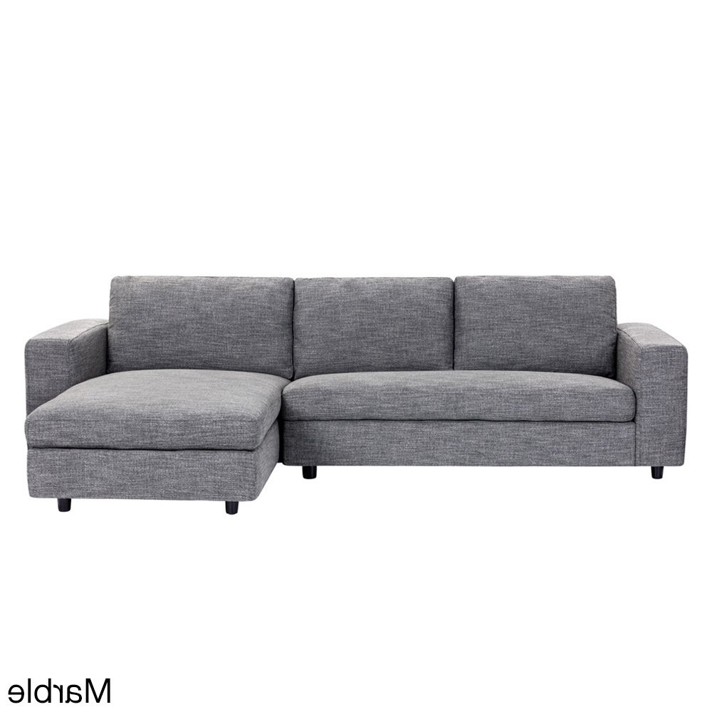 Egan Ii Cement Sofa Sectionals With Reversible Chaise With Regard To Popular Shop Ethan Grey Sofa – On Sale – Free Shipping Today – Overstock (View 10 of 20)
