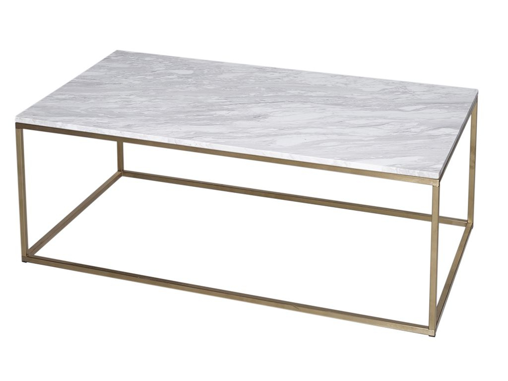 Element Ivory Rectangular Coffee Tables Intended For Current Rectangle Coffee Table – Kensal Marble With Brass Base – Rectangle (View 5 of 20)