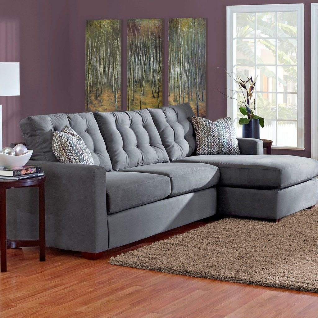 Encouragement Affordable Furniture Two Piece Sectional Sectional Within Latest Evan 2 Piece Sectionals With Raf Chaise (View 18 of 20)