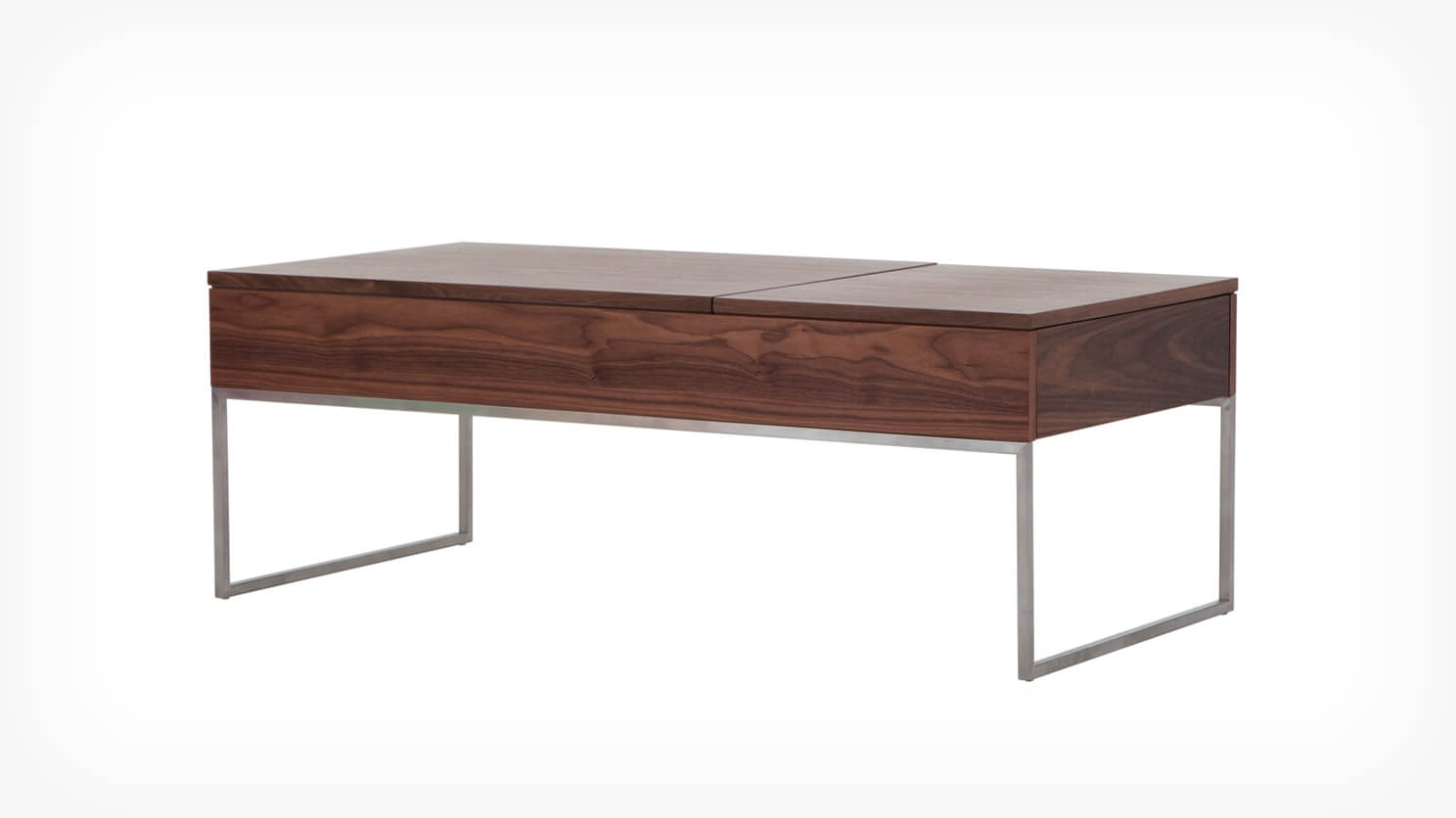 Eq3 For 2018 Walnut Finish 6 Drawer Coffee Tables (View 6 of 20)