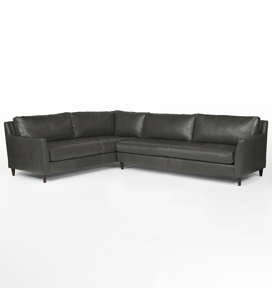 Evan 2 Piece Sectionals With Raf Chaise With Fashionable Stunning Sectional Leather Sofas # (View 8 of 20)