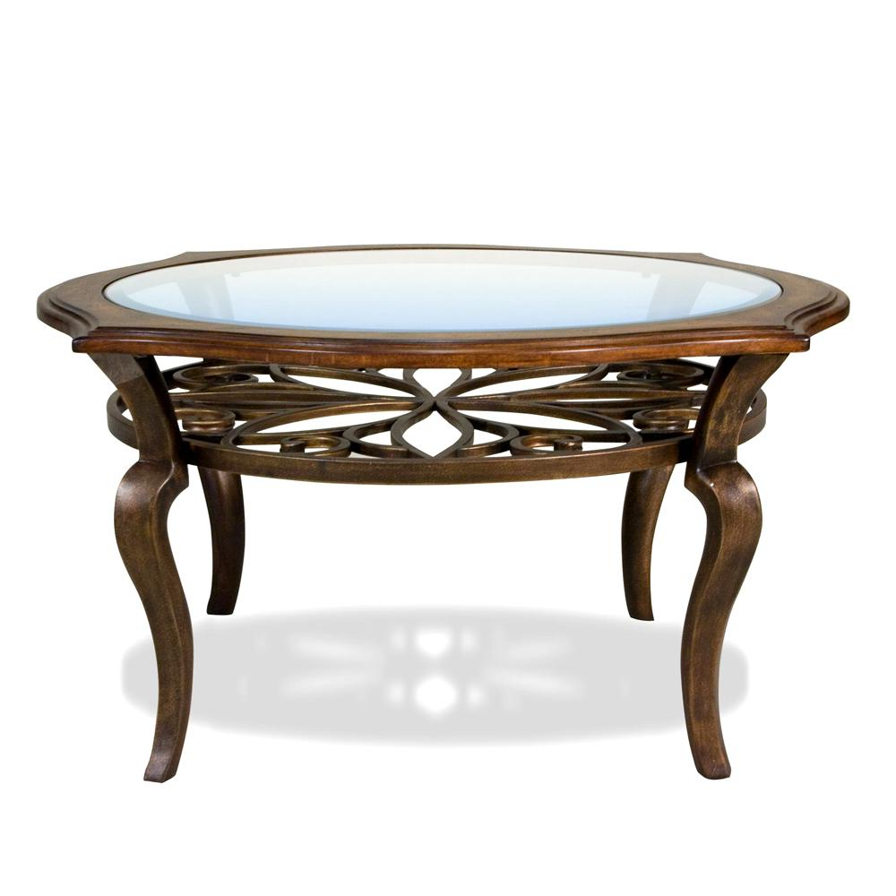 Exton Cocktail Tables Intended For 2019 Riverside Furniture Serena Round Coffee / Cocktail Table – Ahfa (View 8 of 20)