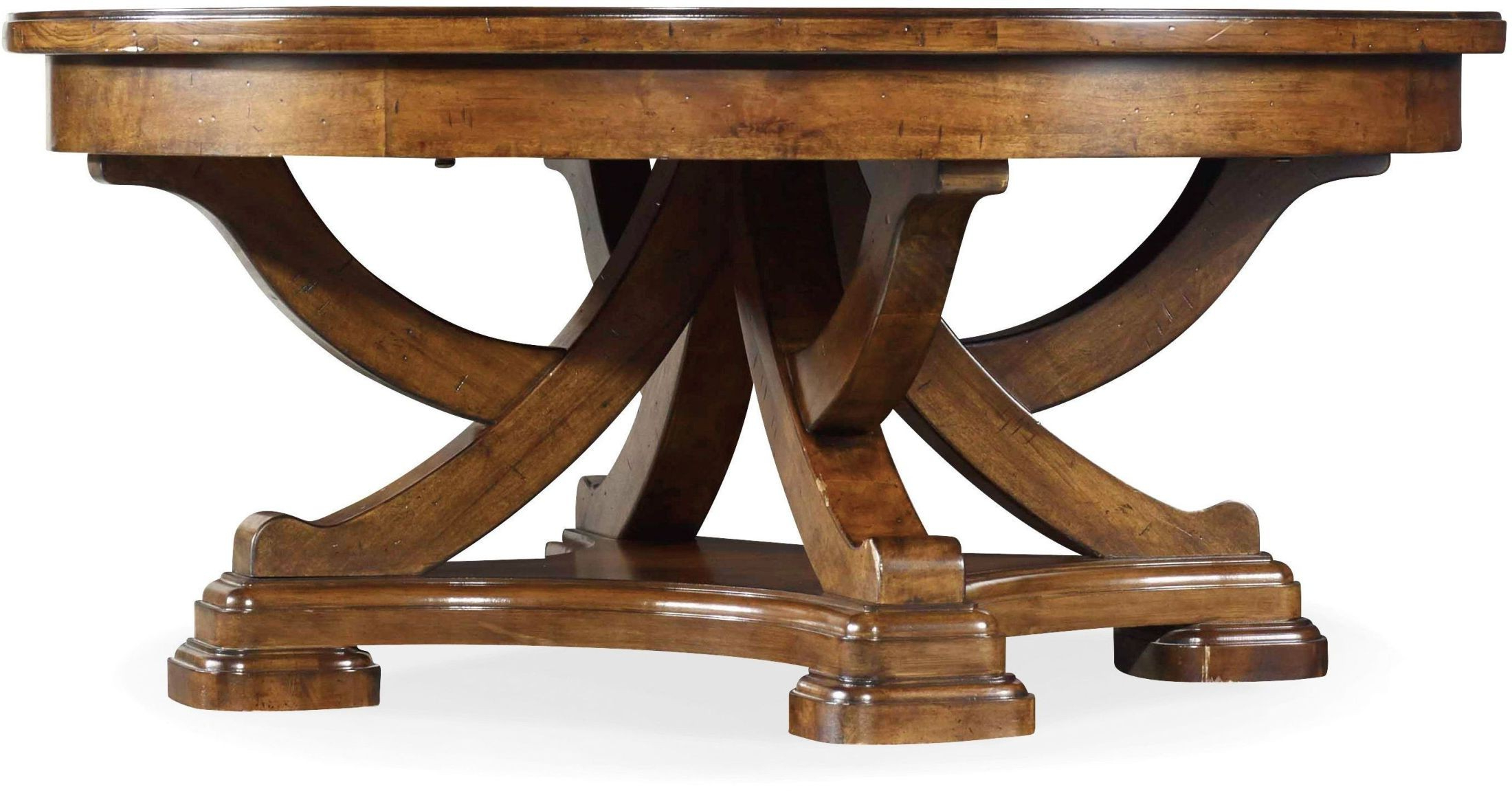Exton Cocktail Tables Pertaining To Popular Tynecastle Brown Round Cocktail Table From Hooker (Gallery 14 of 20)
