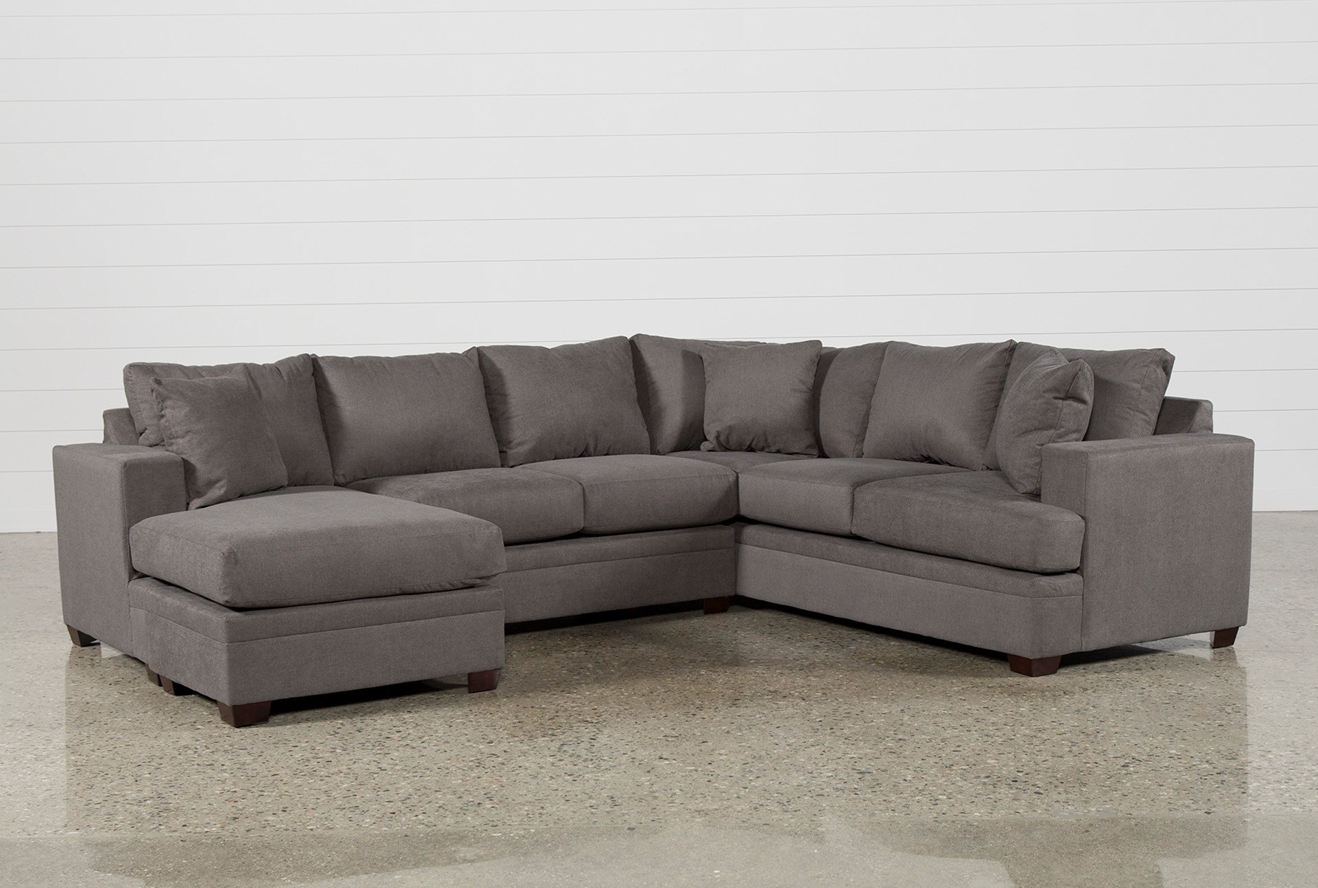 Famous Aquarius Light Grey 2 Piece Sectionals With Raf Chaise Intended For Living Spaces Sectional Couches – Tidex (View 8 of 20)