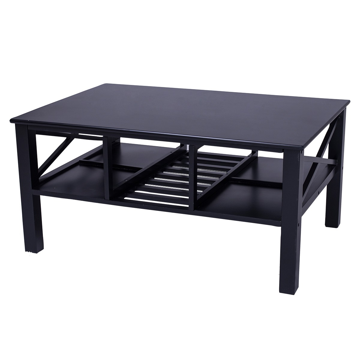 Famous Awesome Coffee Table Black D I N A Friday Glass Deal And White Gloss Inside Darbuka Black Coffee Tables (View 9 of 20)