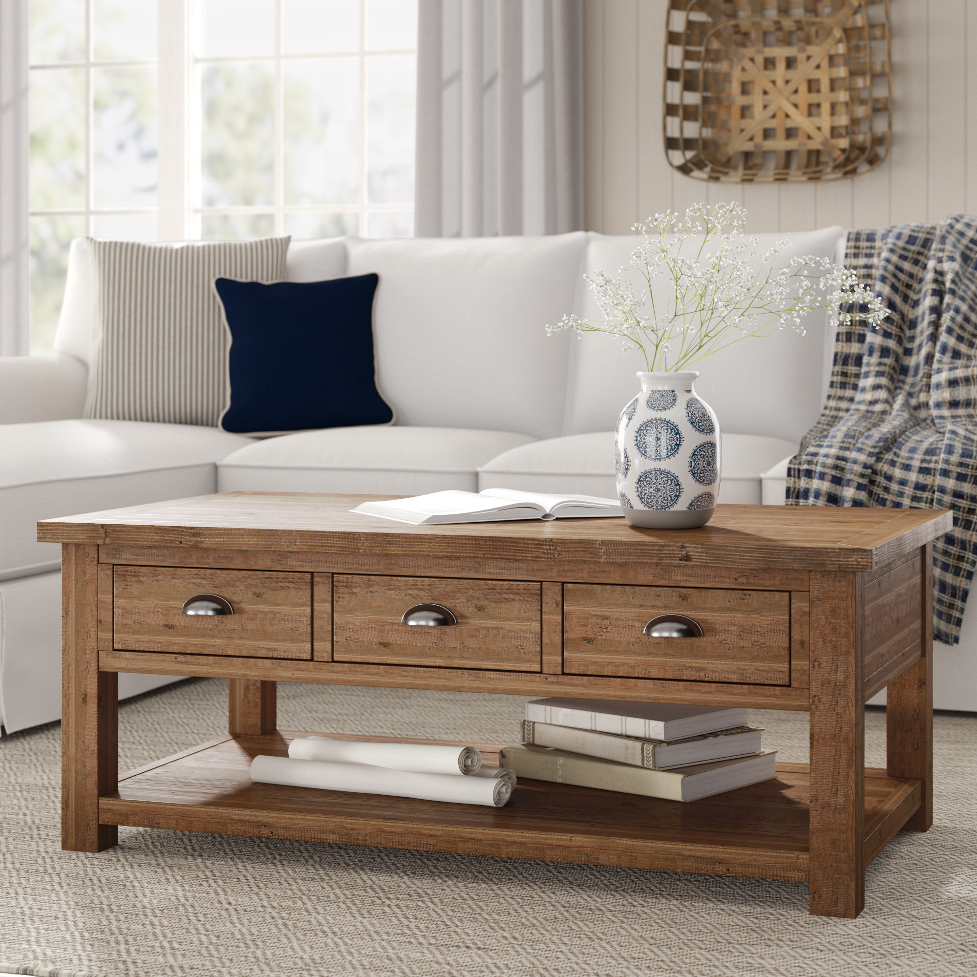 Famous Birch Lane™ Seneca Coffee Table With Storage & Reviews (View 6 of 20)