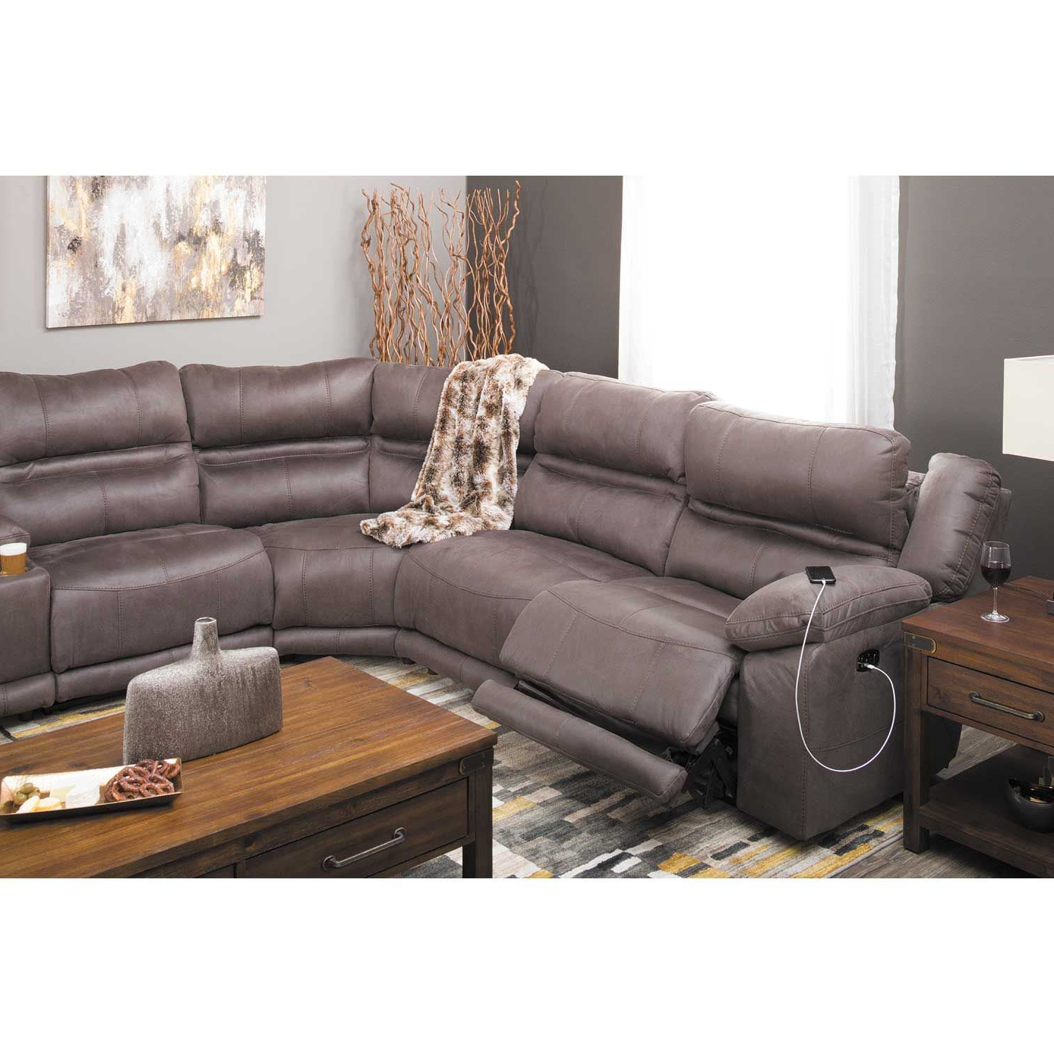Famous Braxton 6 Piece Power Reclining Sectional With Adjustable Headrest Throughout Jackson 6 Piece Power Reclining Sectionals With  Sleeper (Gallery 17 of 20)